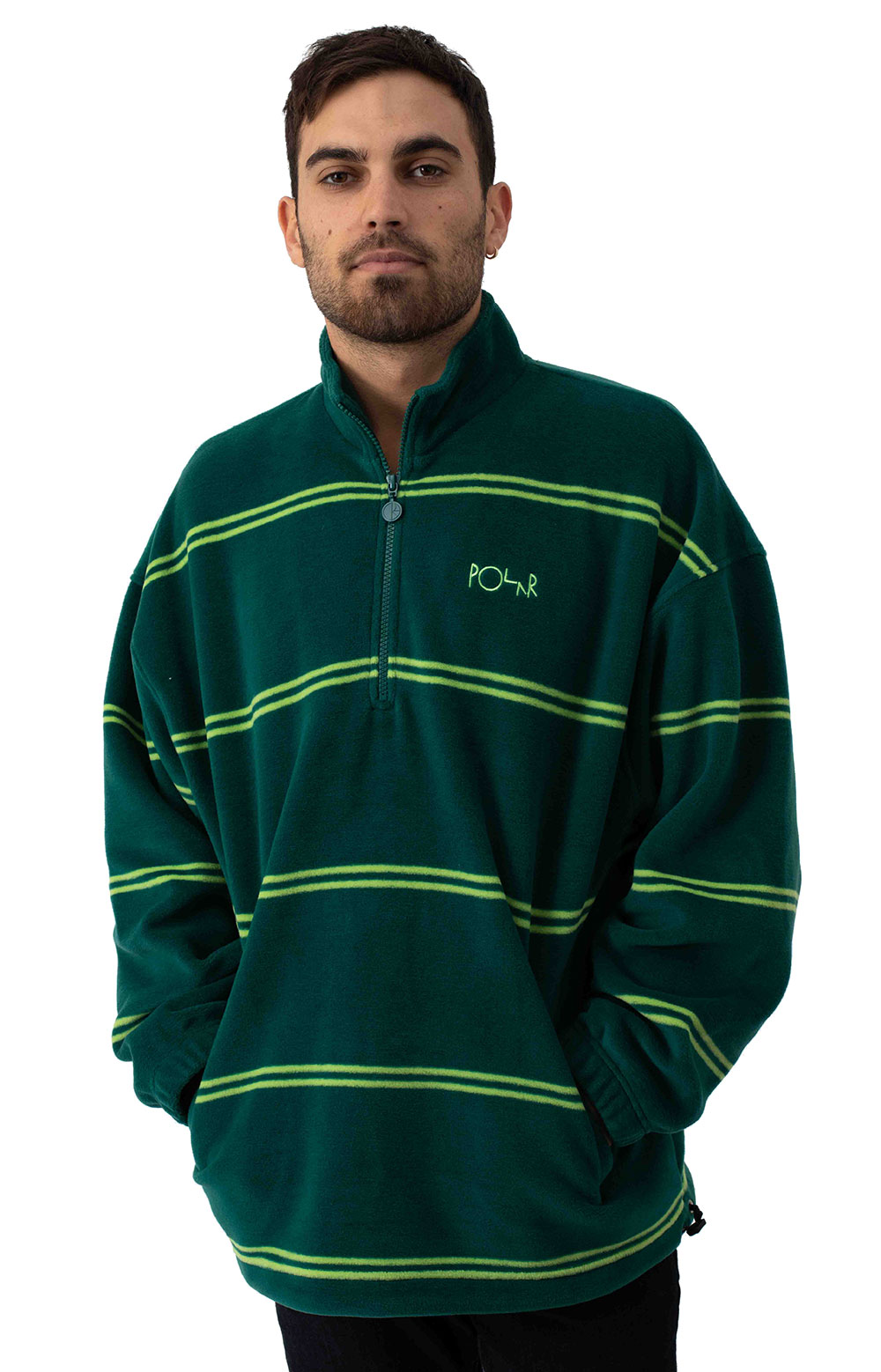 Striped Fleece Pullover 2.0 - Dark Green