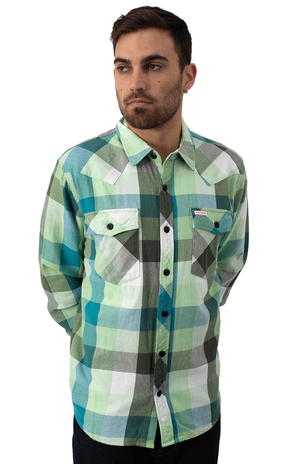 Big Plaid Mountain Button-Up Shirt - Green