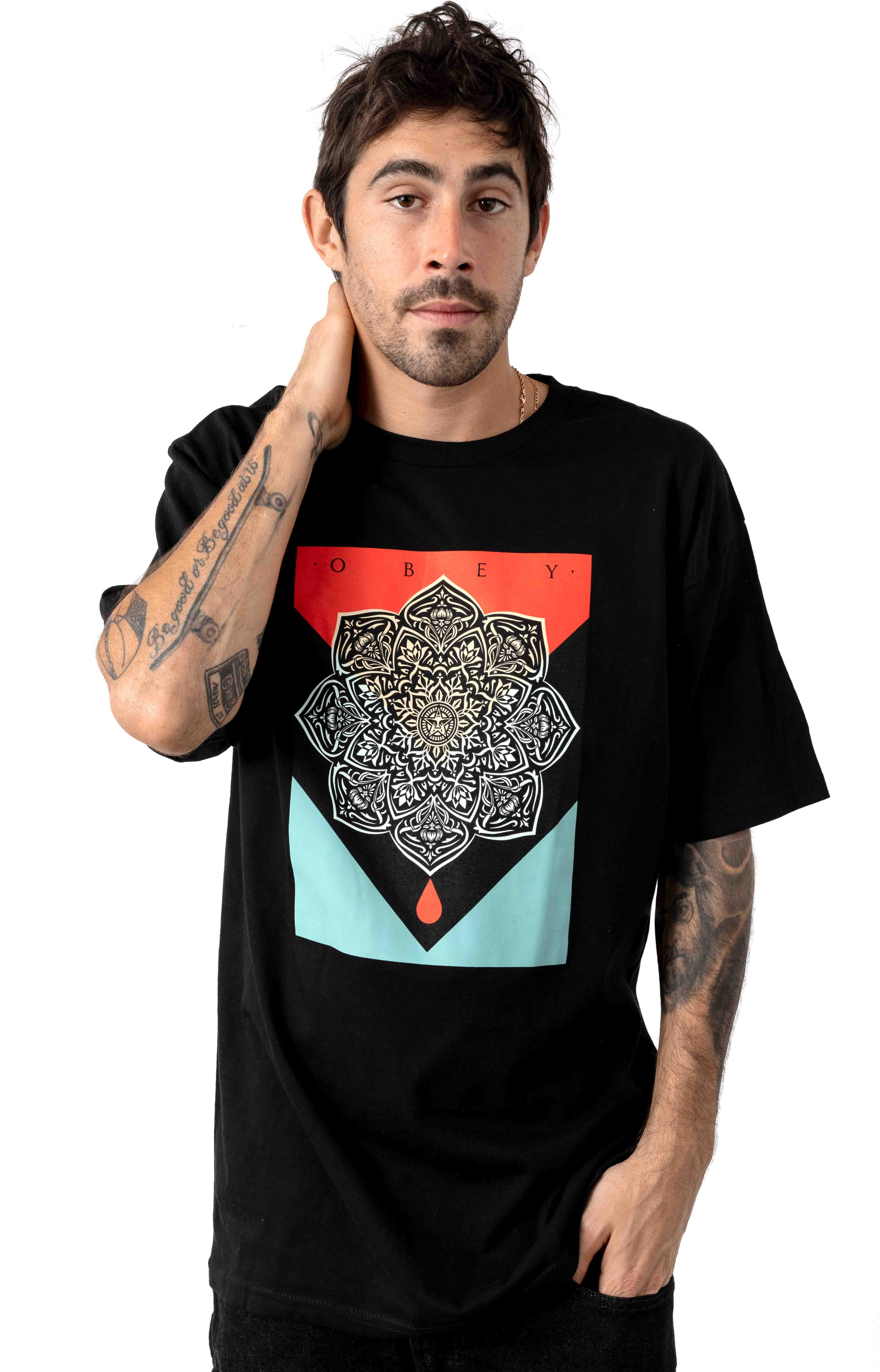 Obey Blood & Oil Mandala T-Shirt - Black