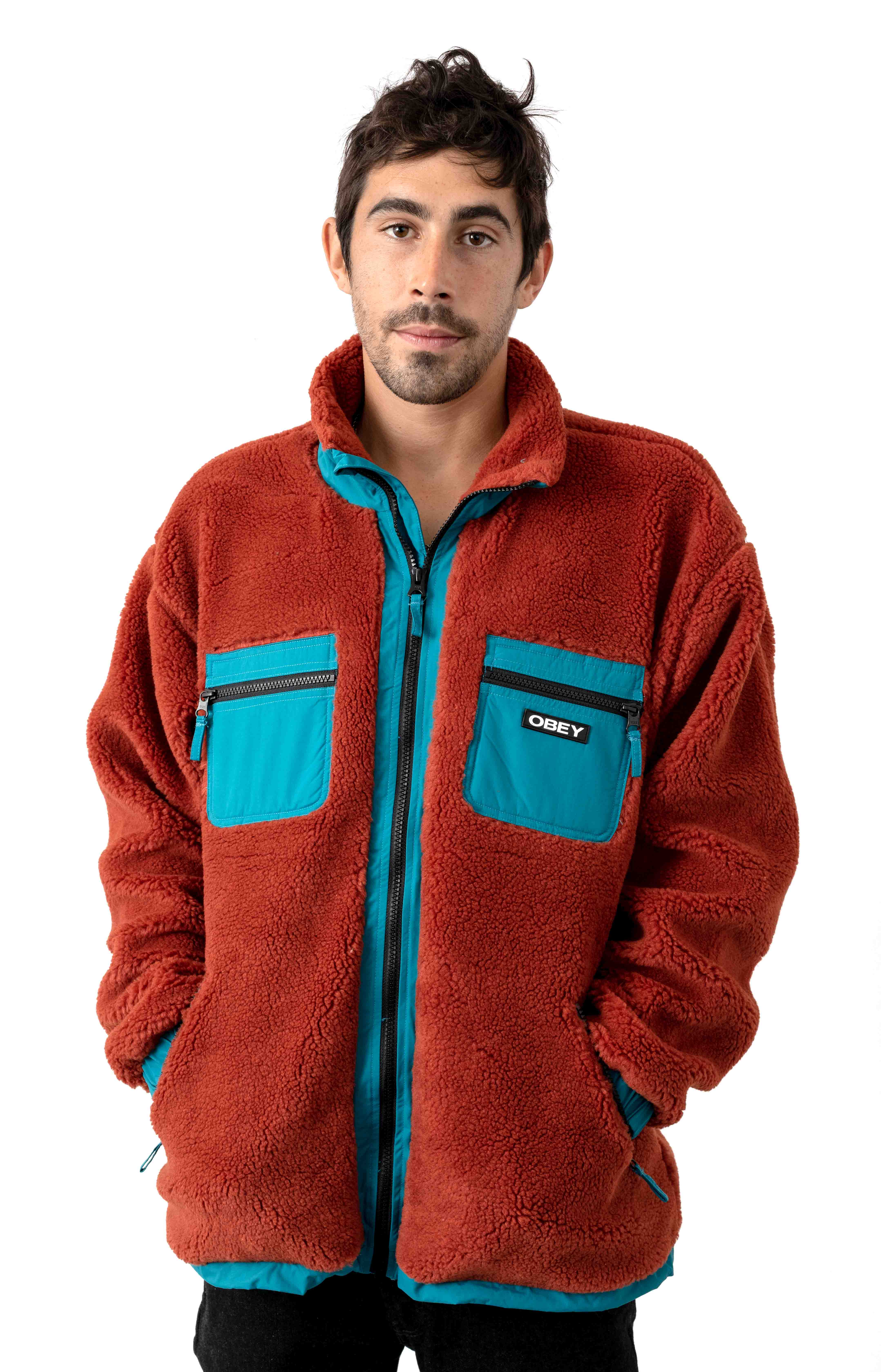 Out There Sherpa Jacket - Burnt Brick