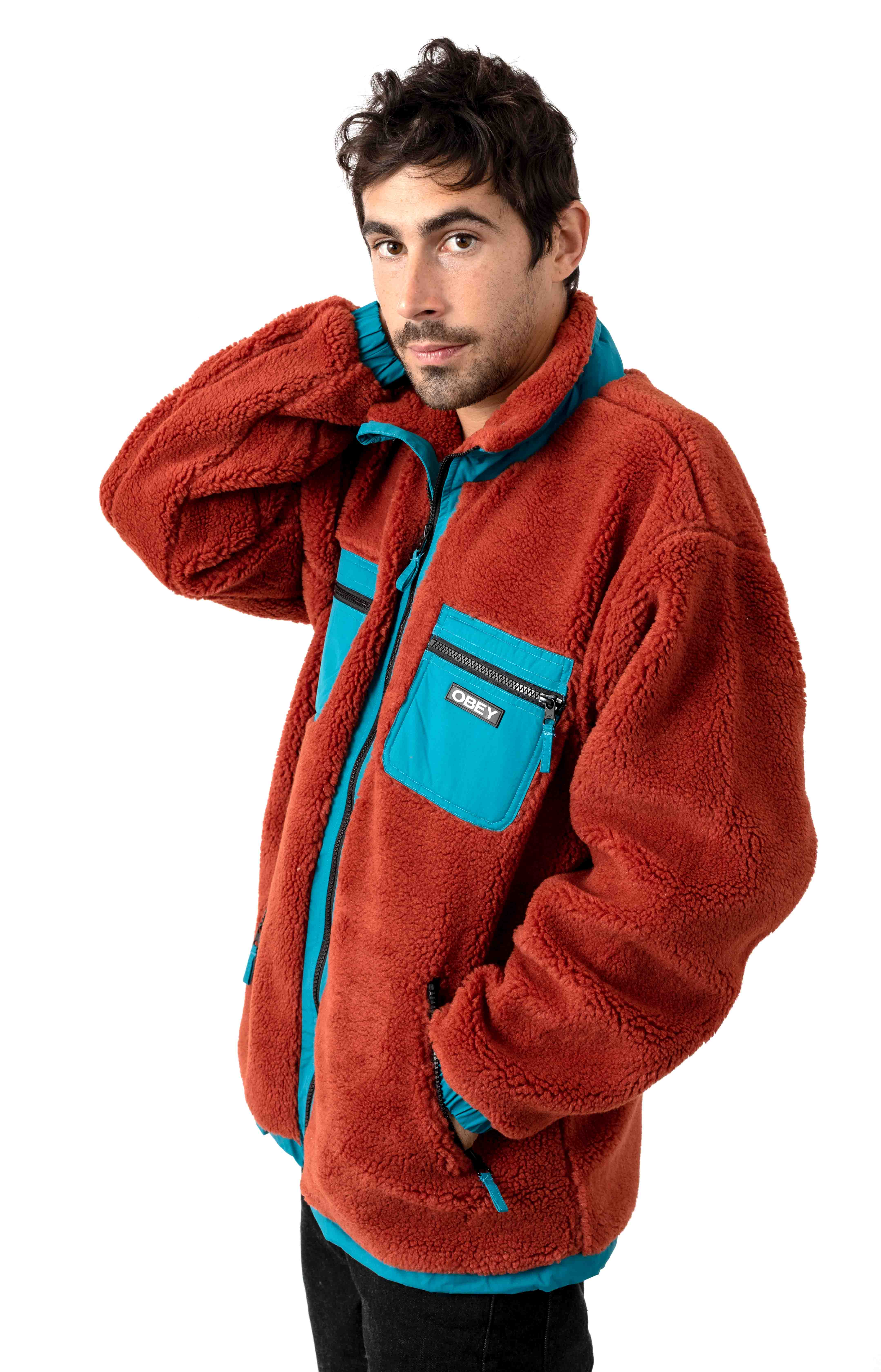 Out There Sherpa Jacket - Burnt Brick 2