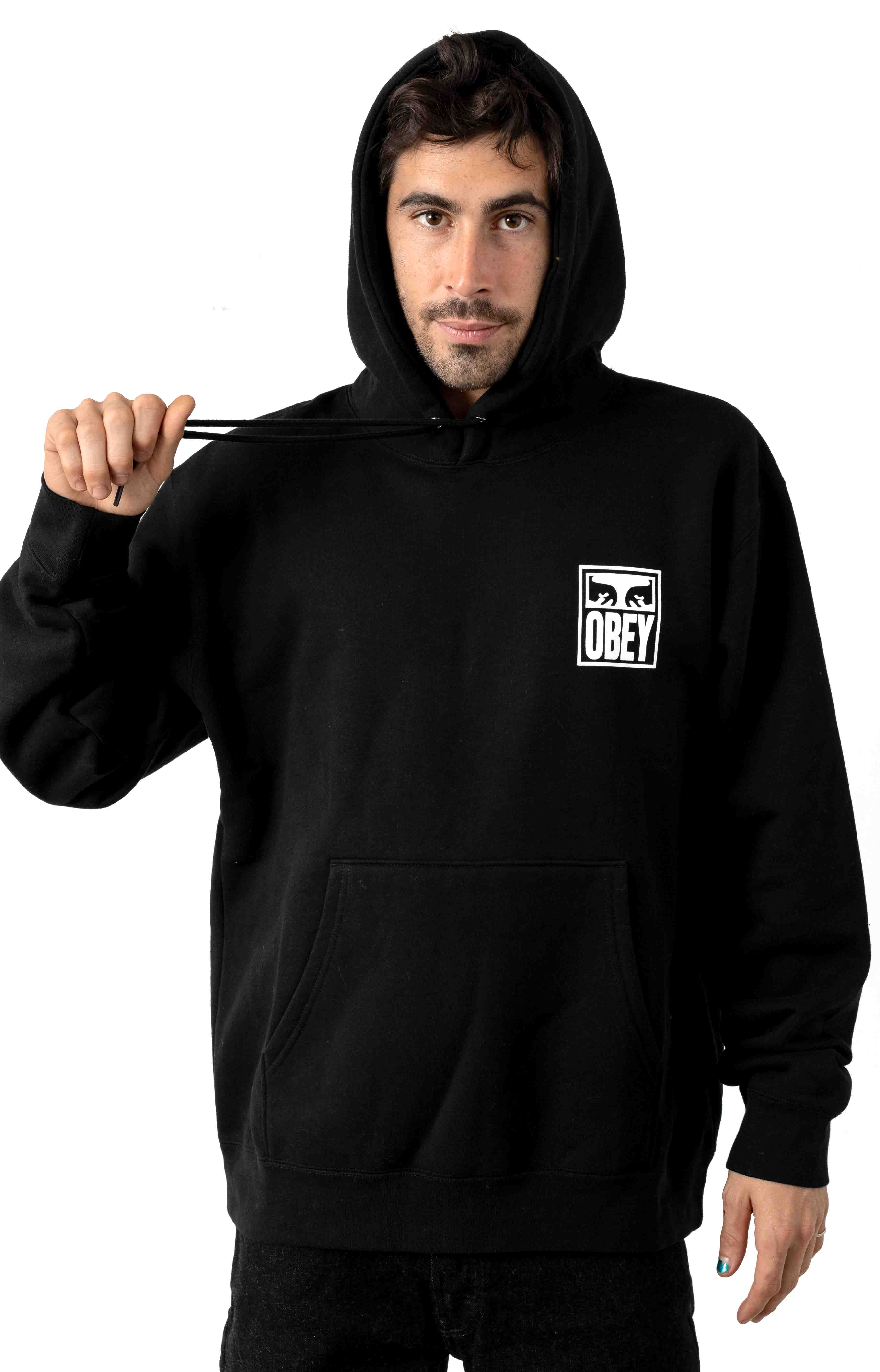 Obey Eyes Icon 2 Pullover Hoodie - Black 2