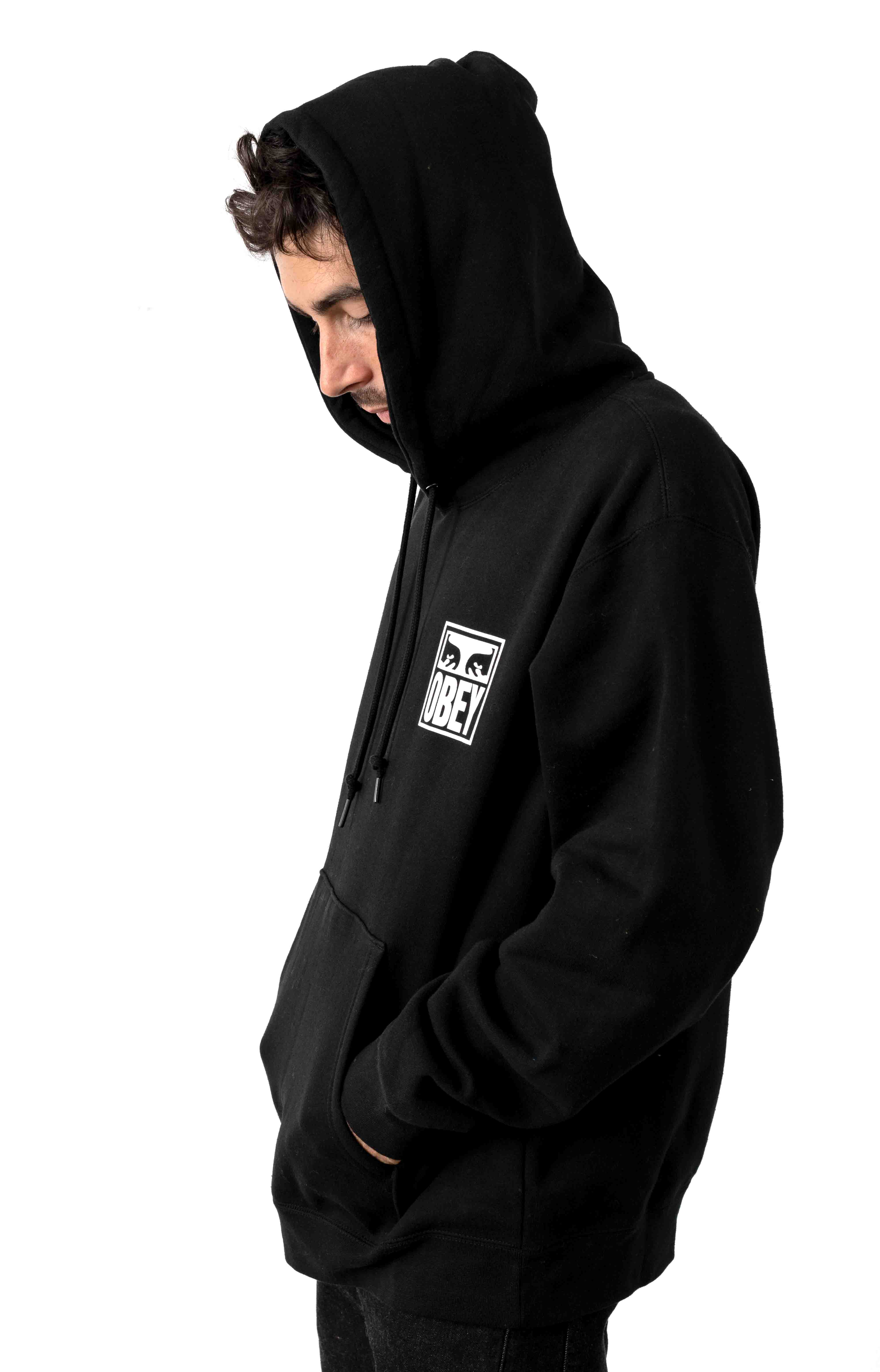 Obey Eyes Icon 2 Pullover Hoodie - Black 3