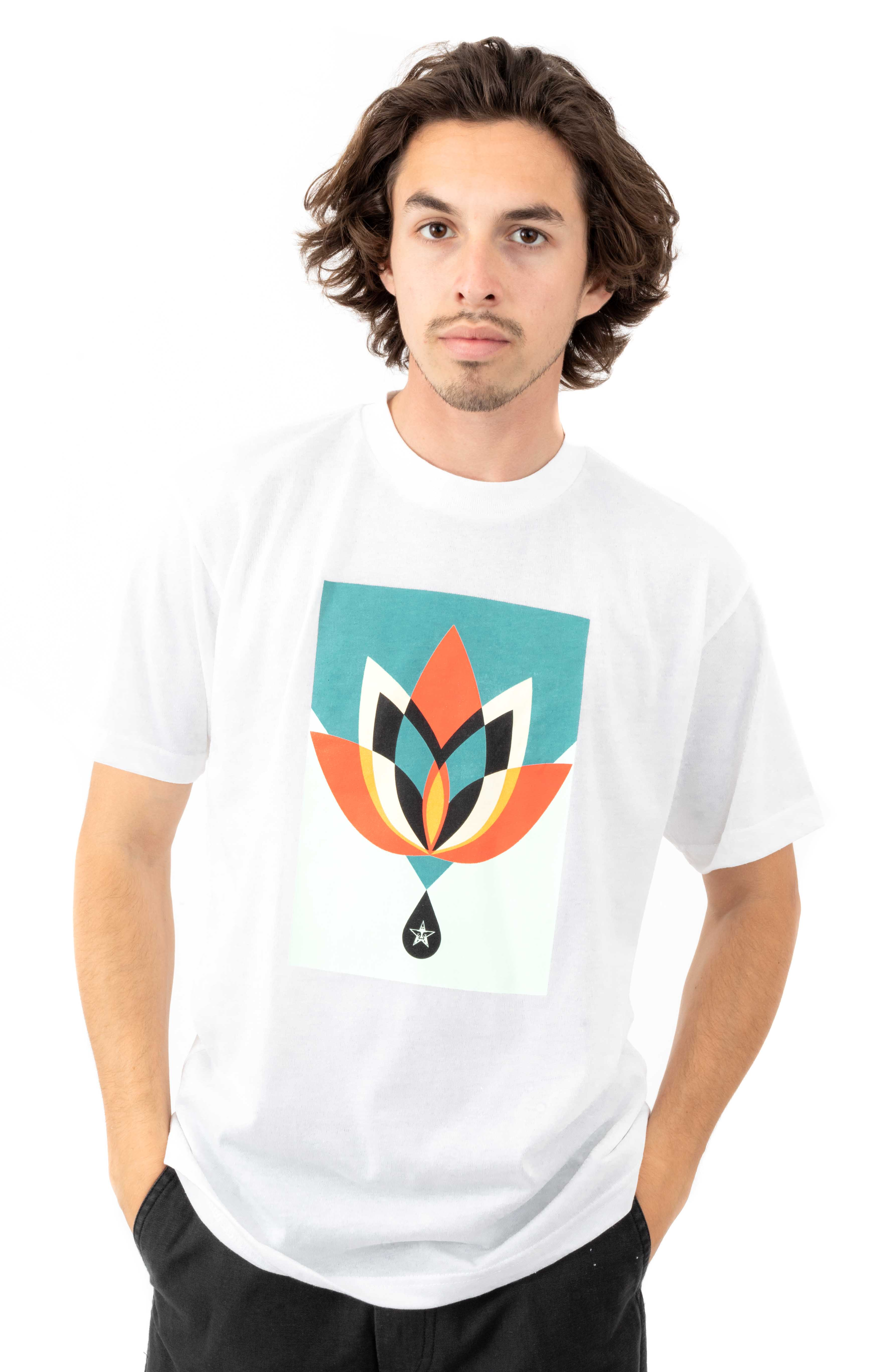 Obey Geometric Flower T-Shirt - White