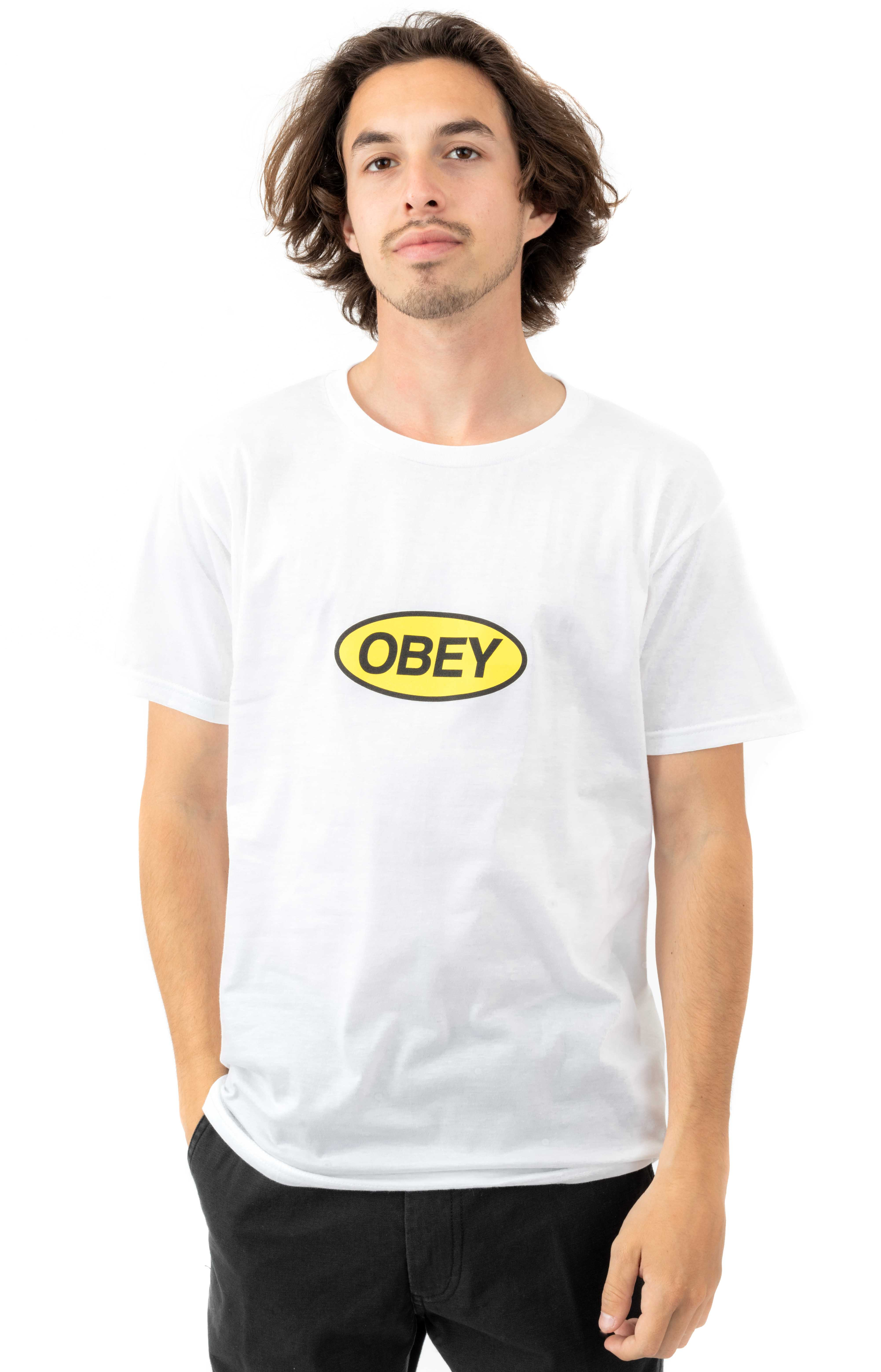 Obey Stacked T-Shirt - White  2