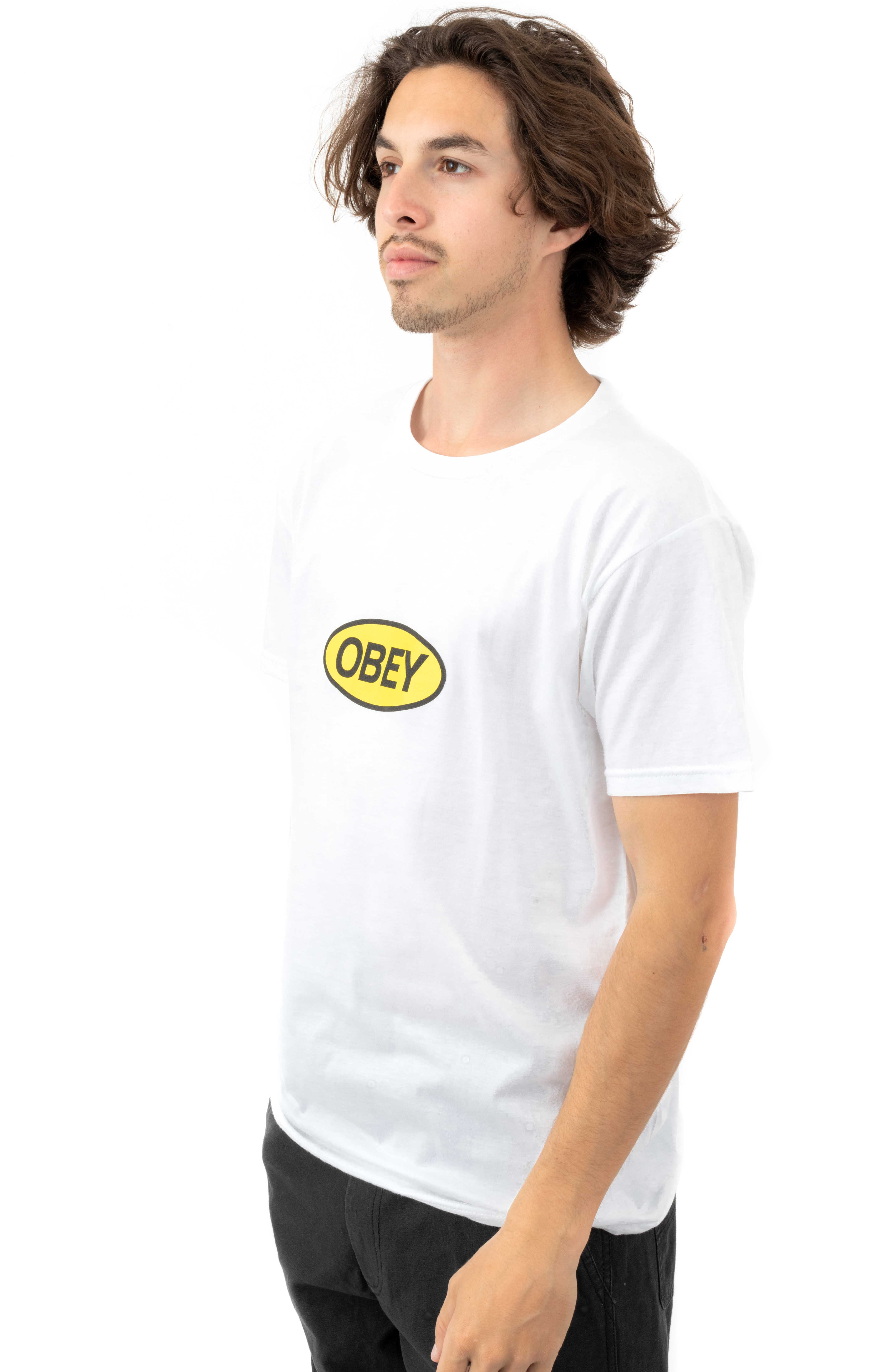 Obey Stacked T-Shirt - White  3