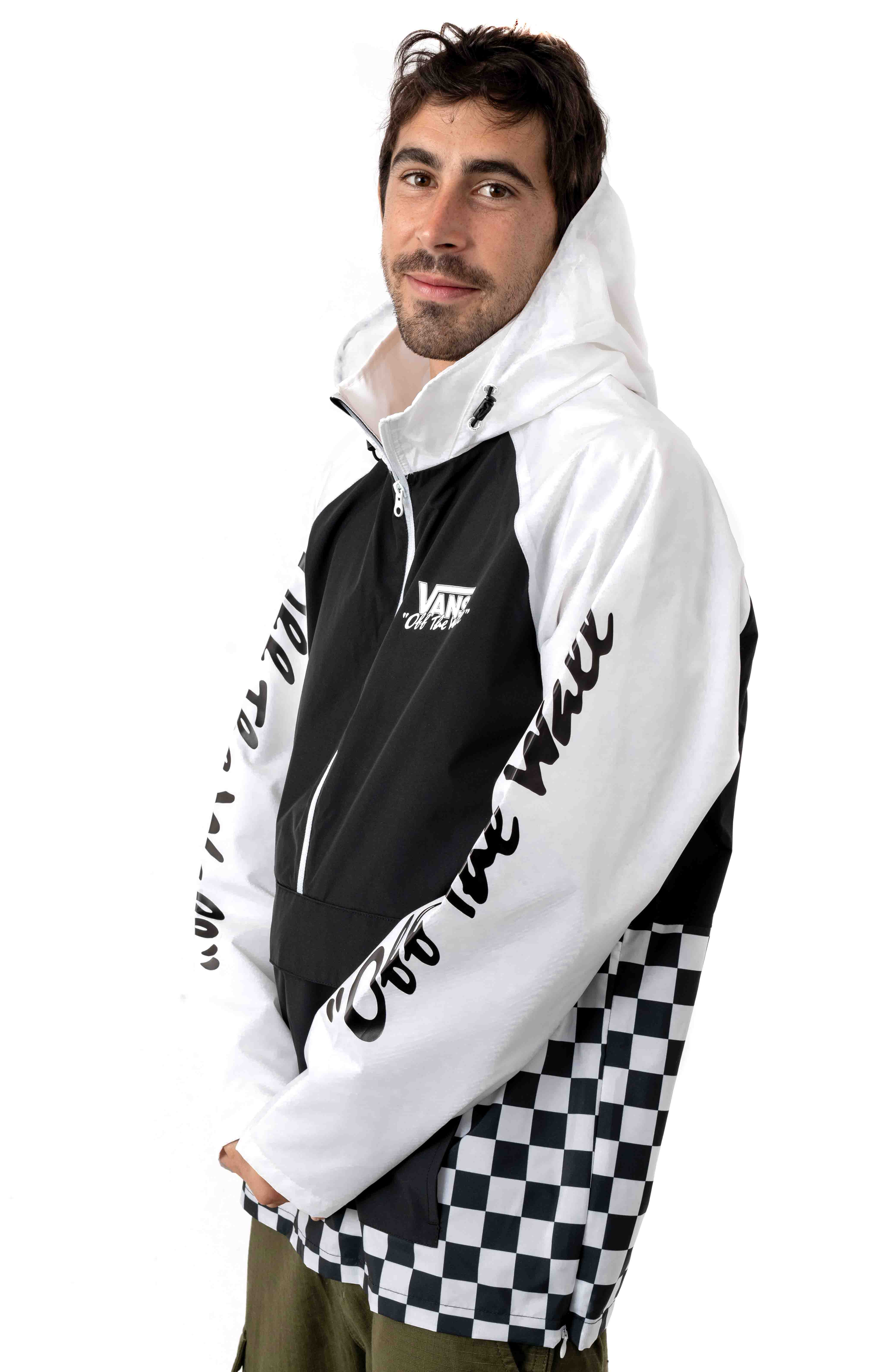 BMX Off The Wall Anorak - Black/White 3