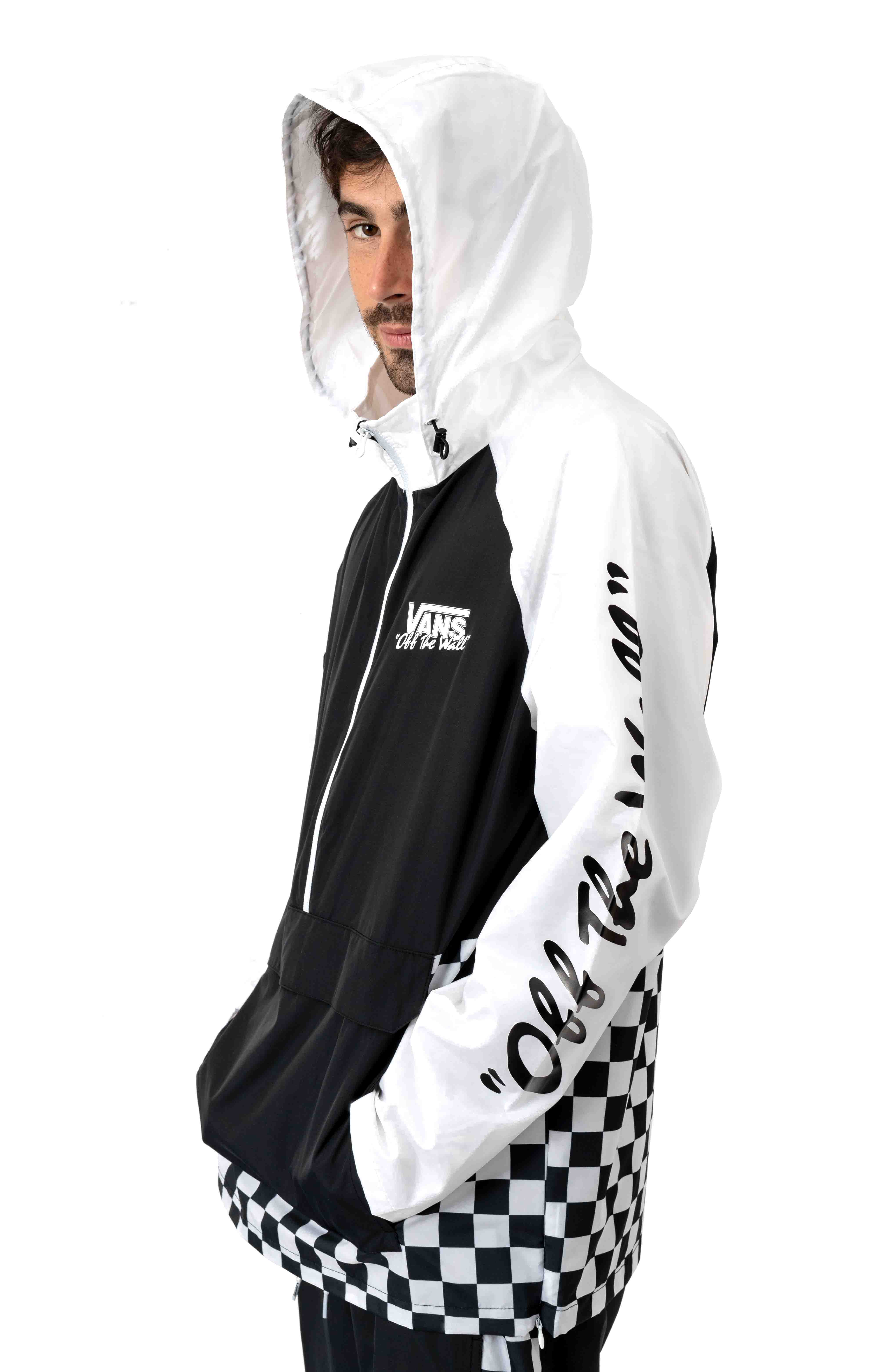 BMX Off The Wall Anorak - Black/White 5