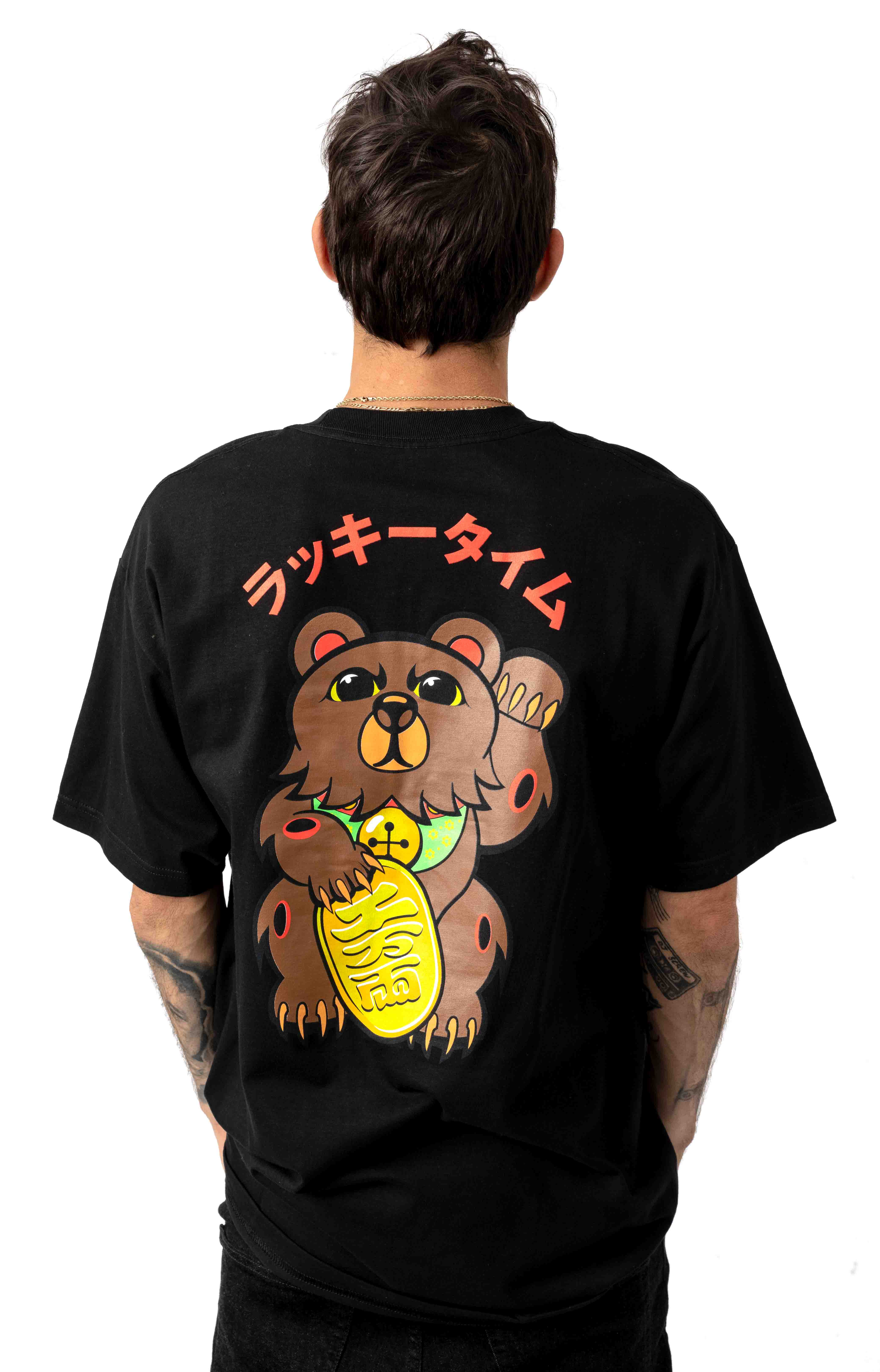 Lucky Bear T-Shirt - Black