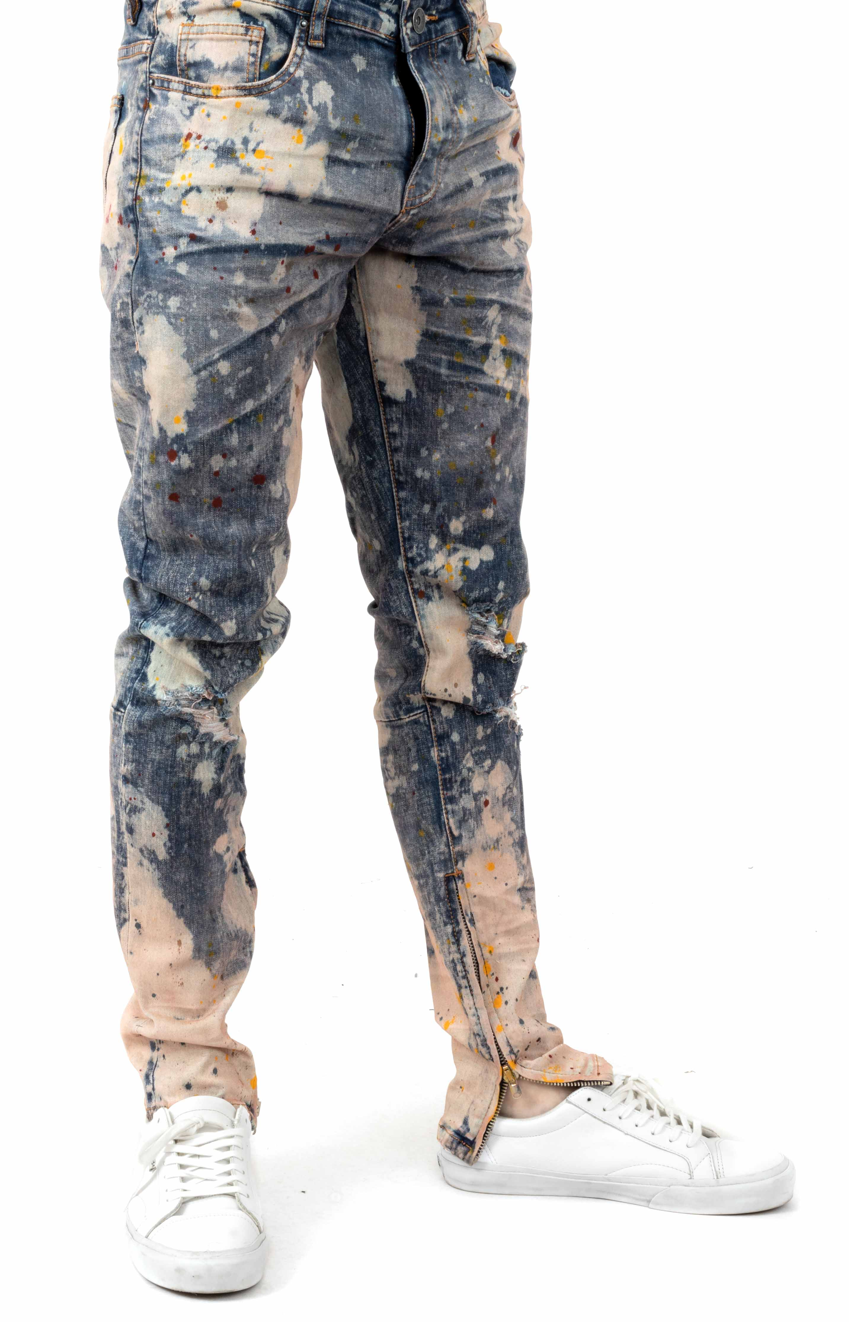 (CRYSP219-103) Pacific Denim Jeans - Bleach