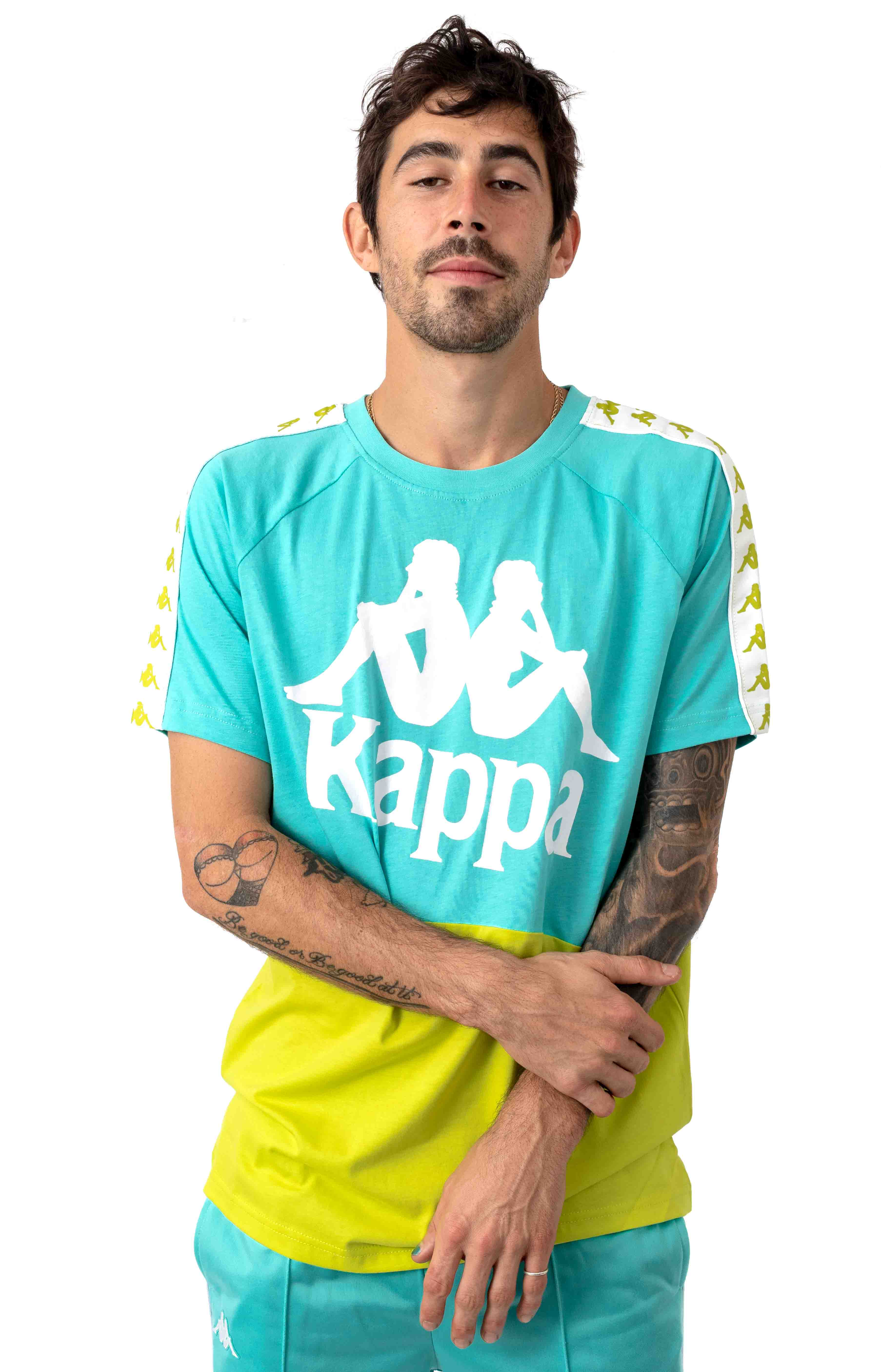222 Banda Baldwin T-Shirt - Light Green/Lime/White
