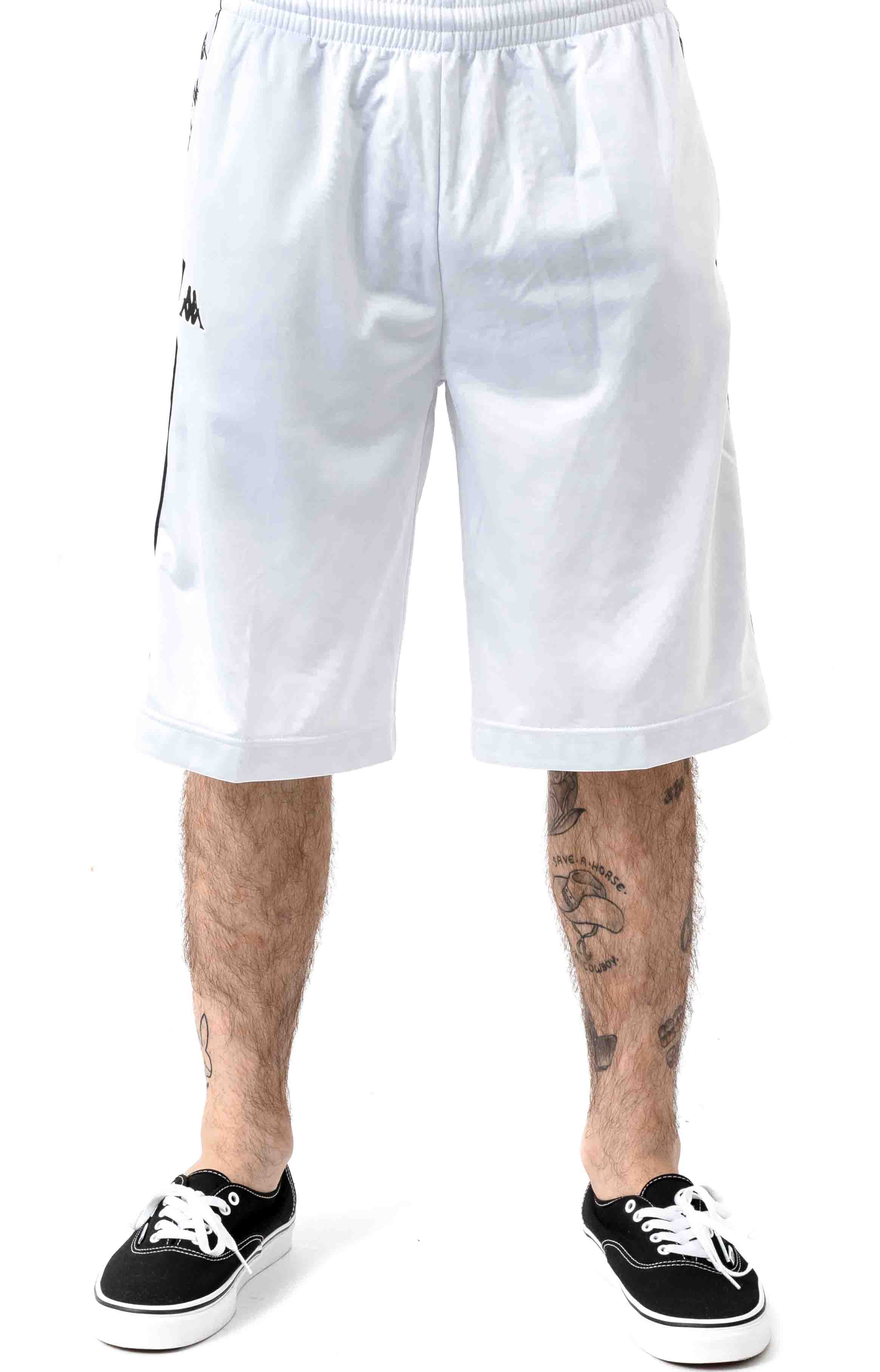 222 Banda Treadwellz Shorts - White/Black 2