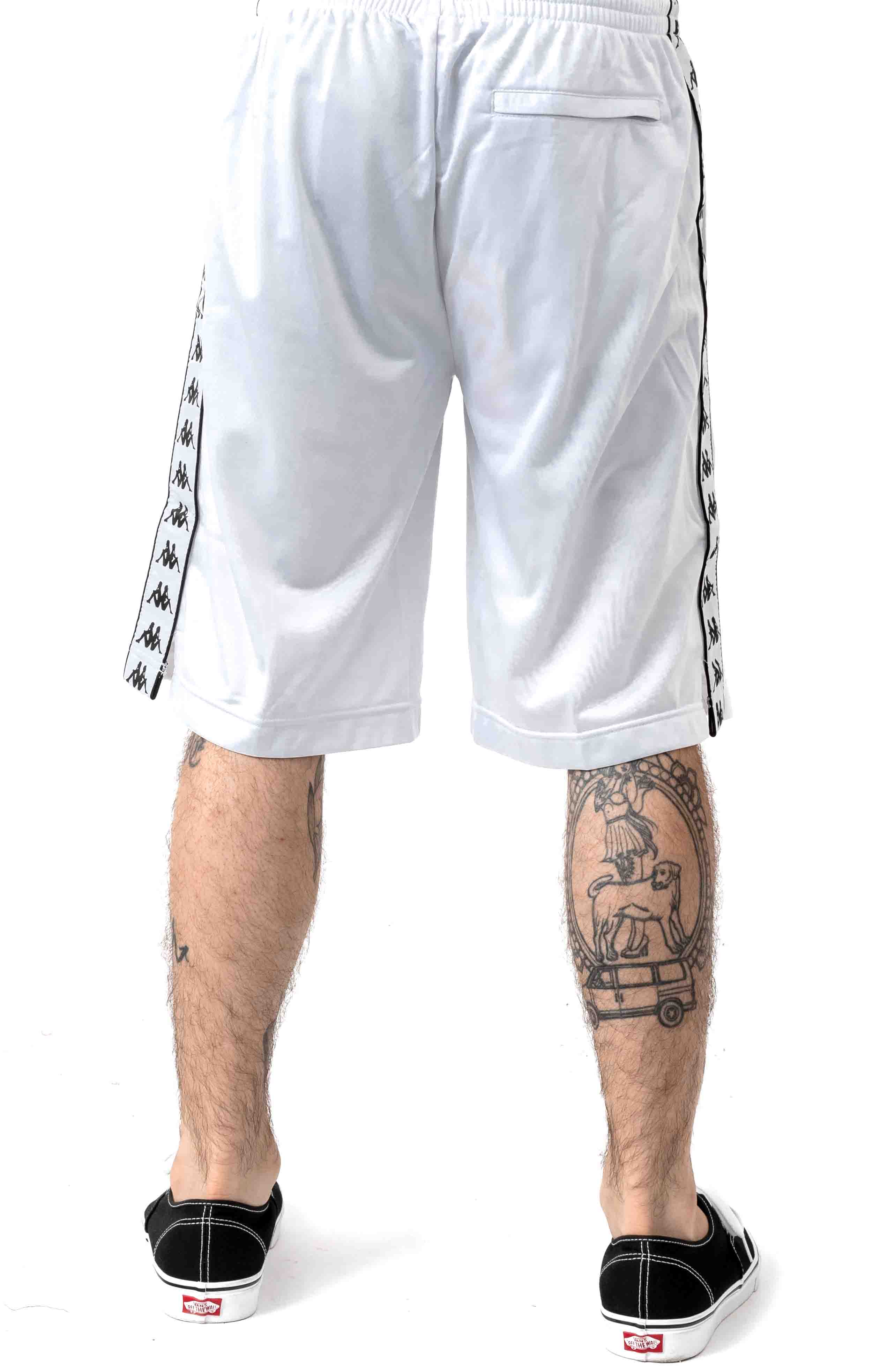 222 Banda Treadwellz Shorts - White/Black 3