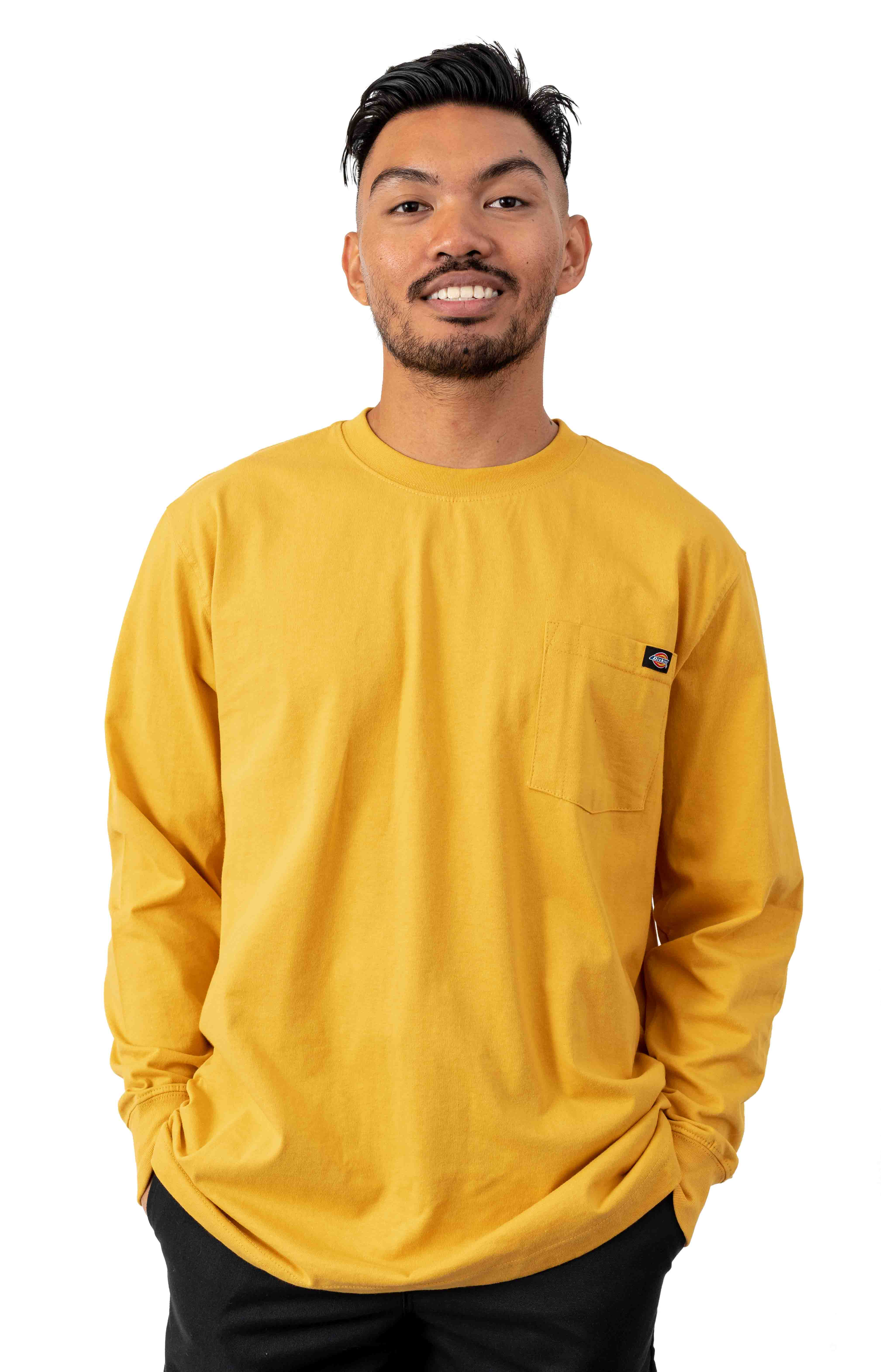 (WL450ID) Long Sleeve Heavyweight Crew Neck Shirt - Dijon Yellow