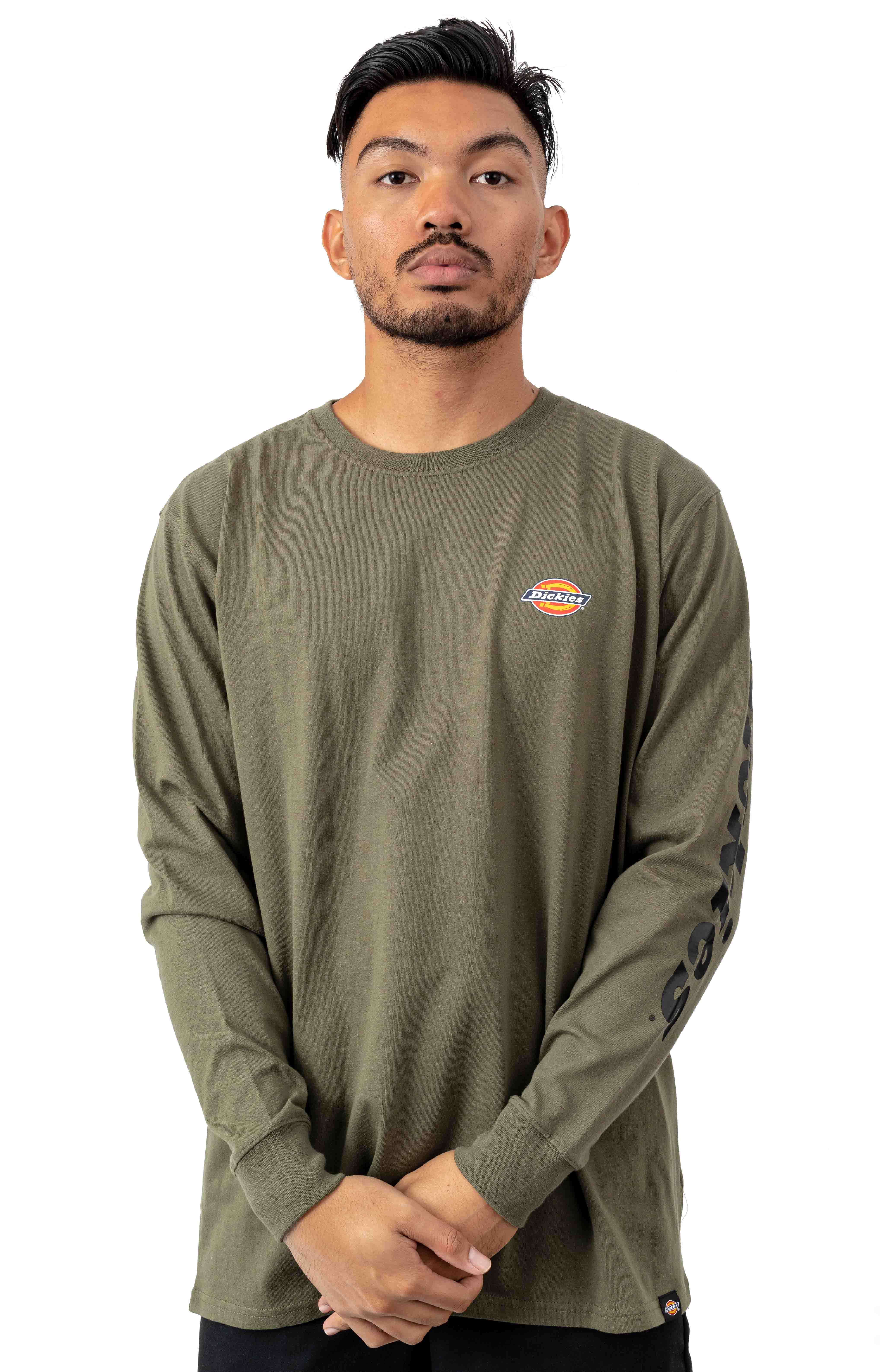 (WL469ML) L/S Graphic T-Shirt - Military Green