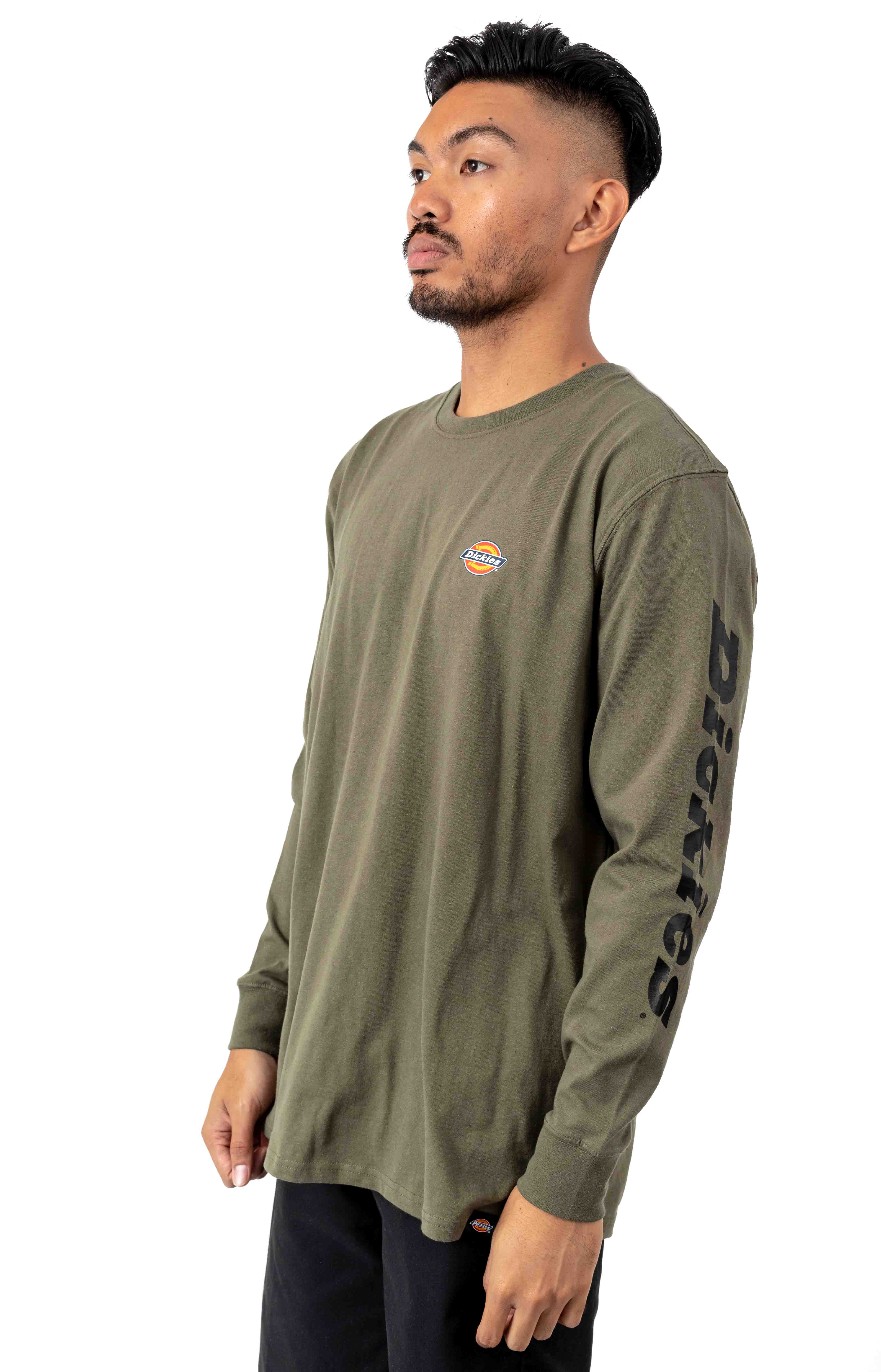 (WL469ML) L/S Graphic T-Shirt - Military Green 2