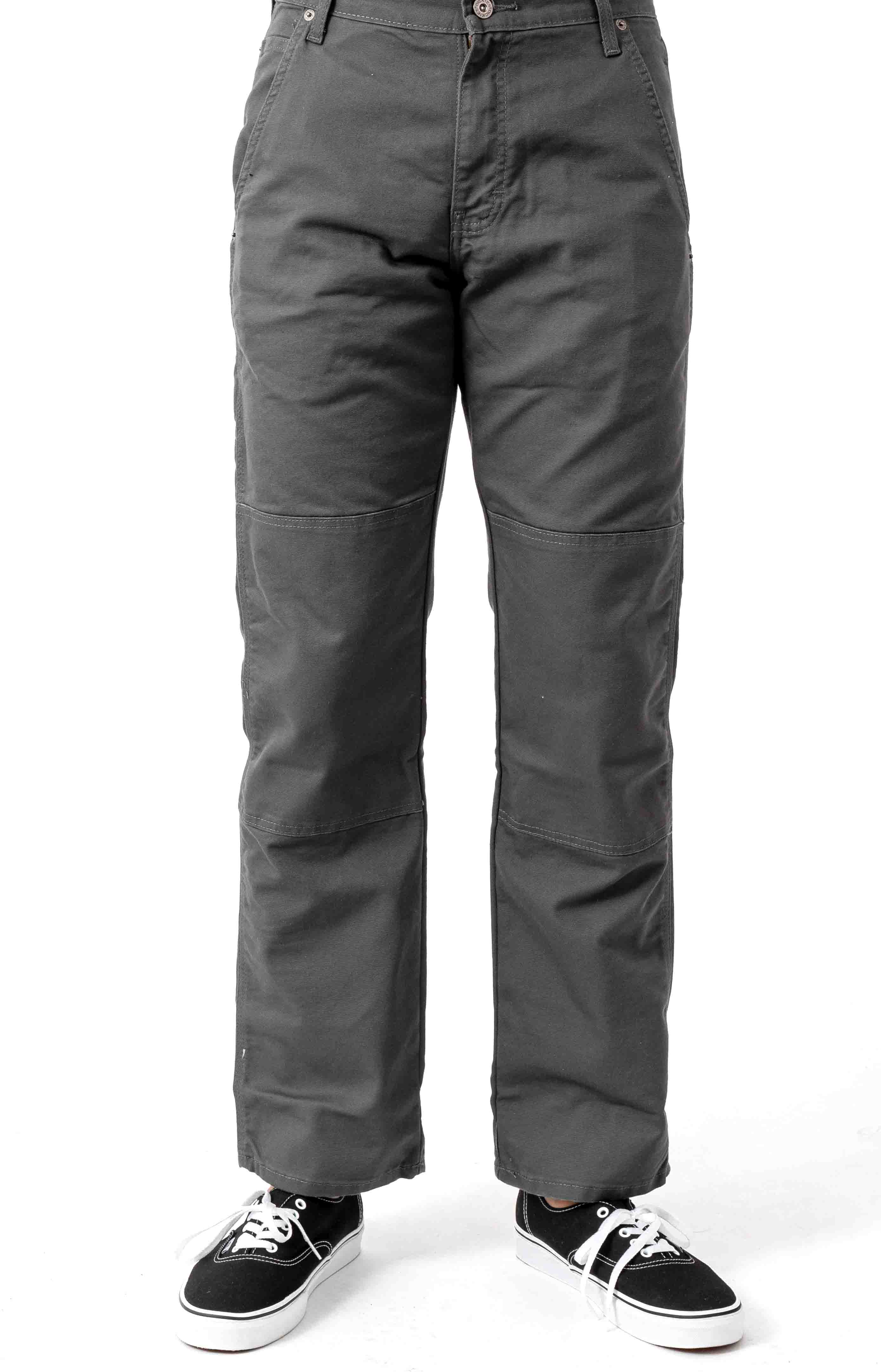 (DP903SSL) FLEX Regular Fit Tough Max Duck Double Knee Pant - Stonewashed Grey
