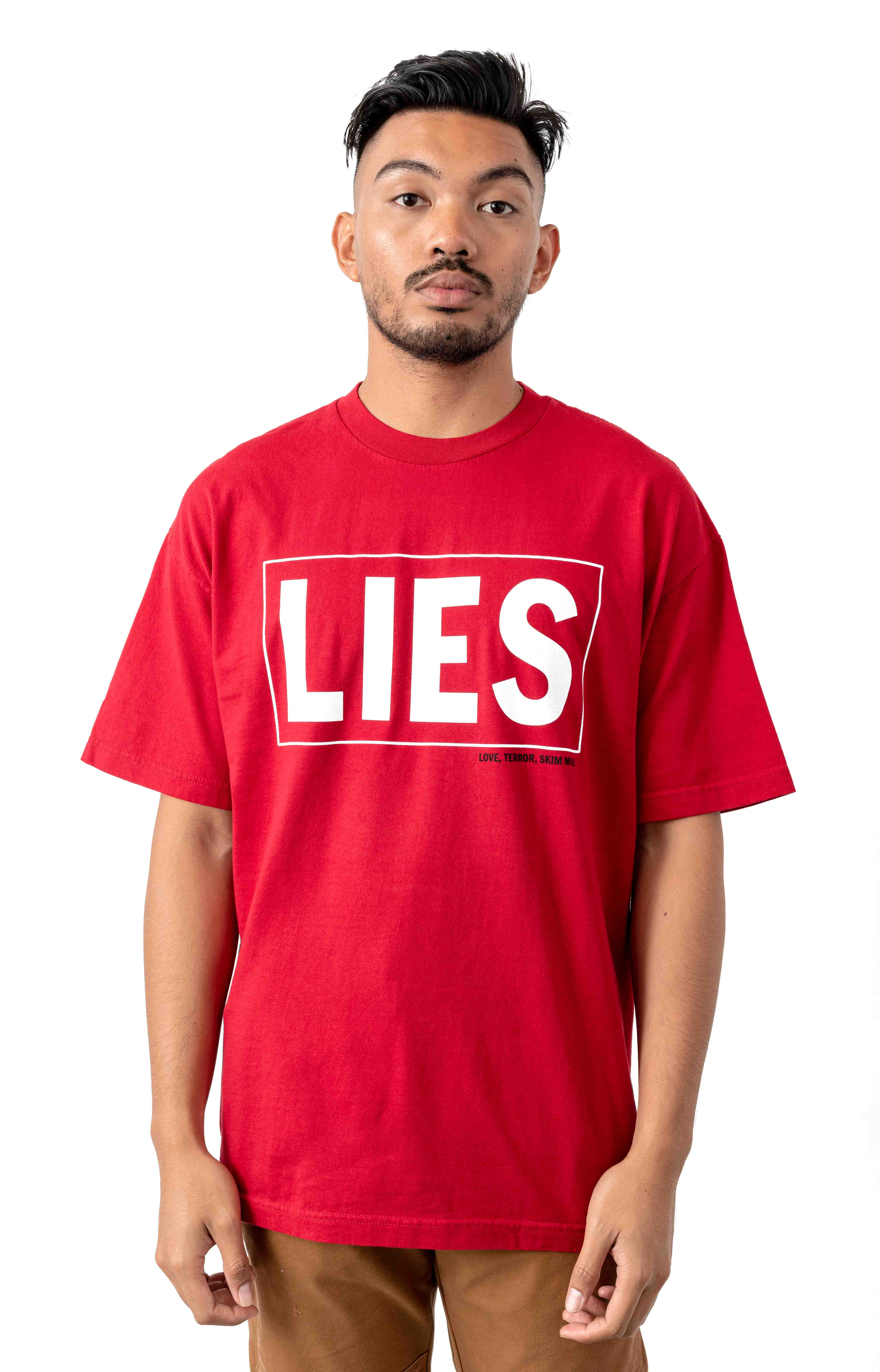 LIES T-Shirt - Cherry