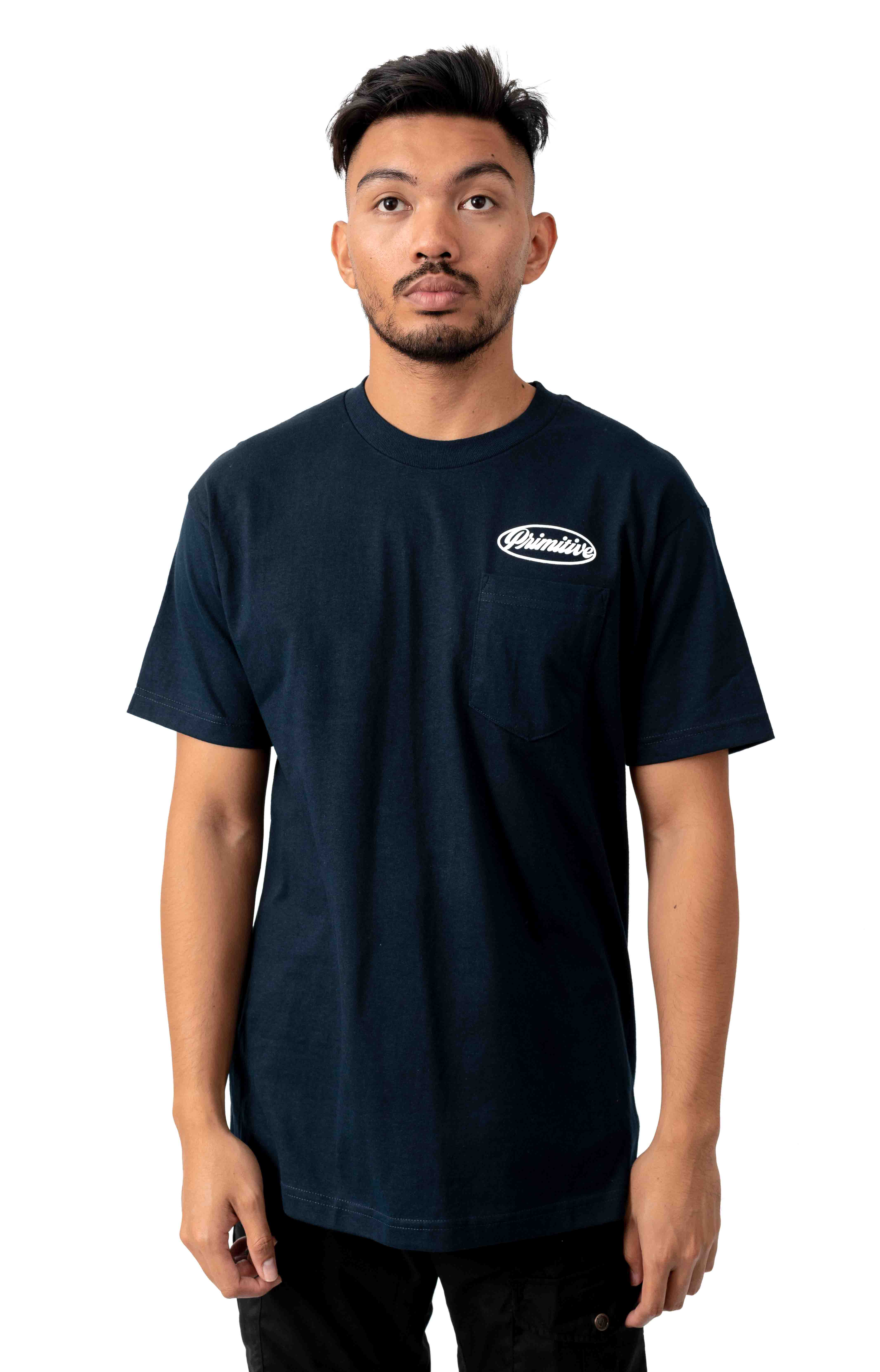 Luke Script II Pocket T-Shirt - Navy