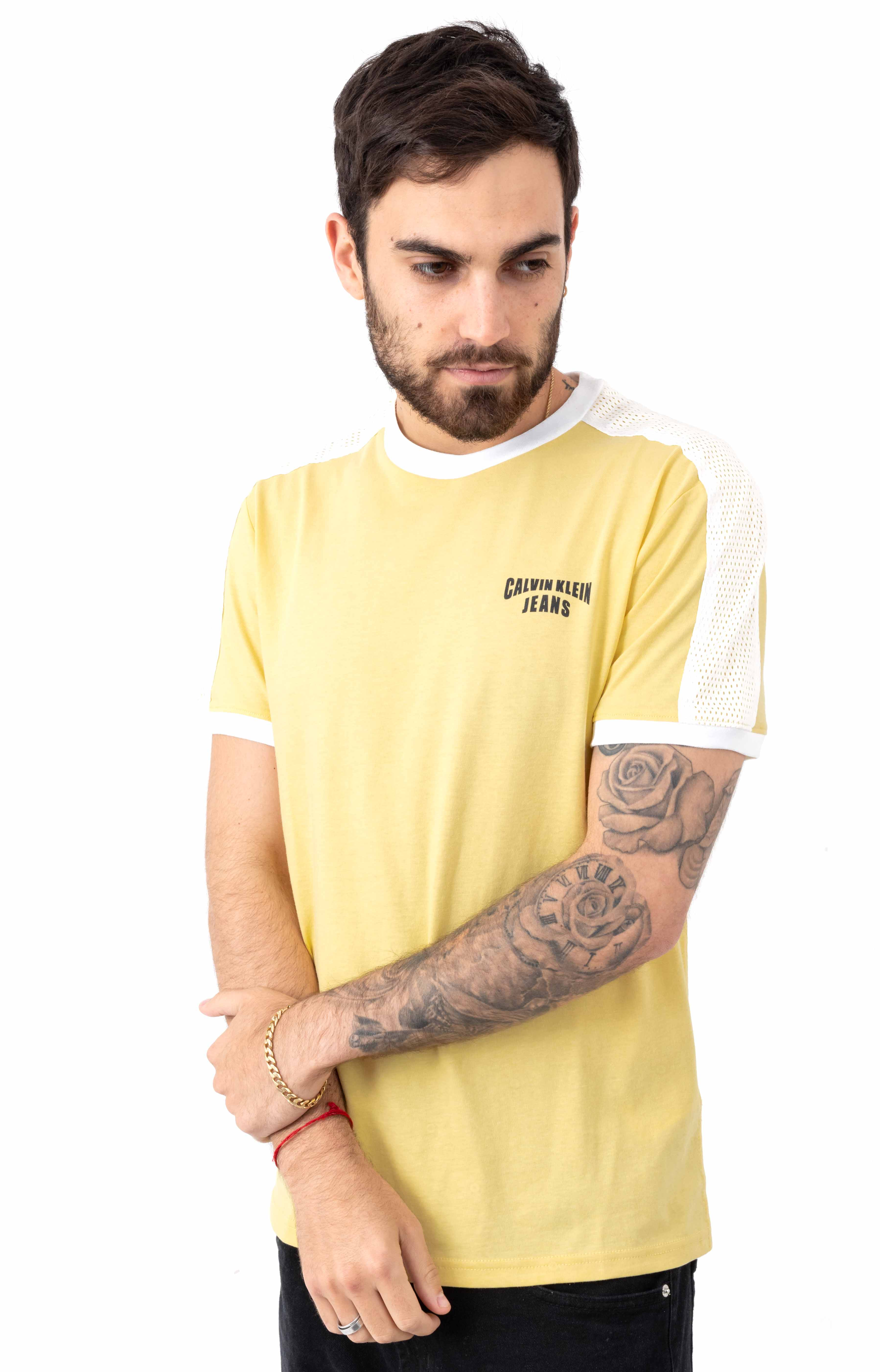 Star Stripe Logo Crewneck T-Shirt - Dusky Citron