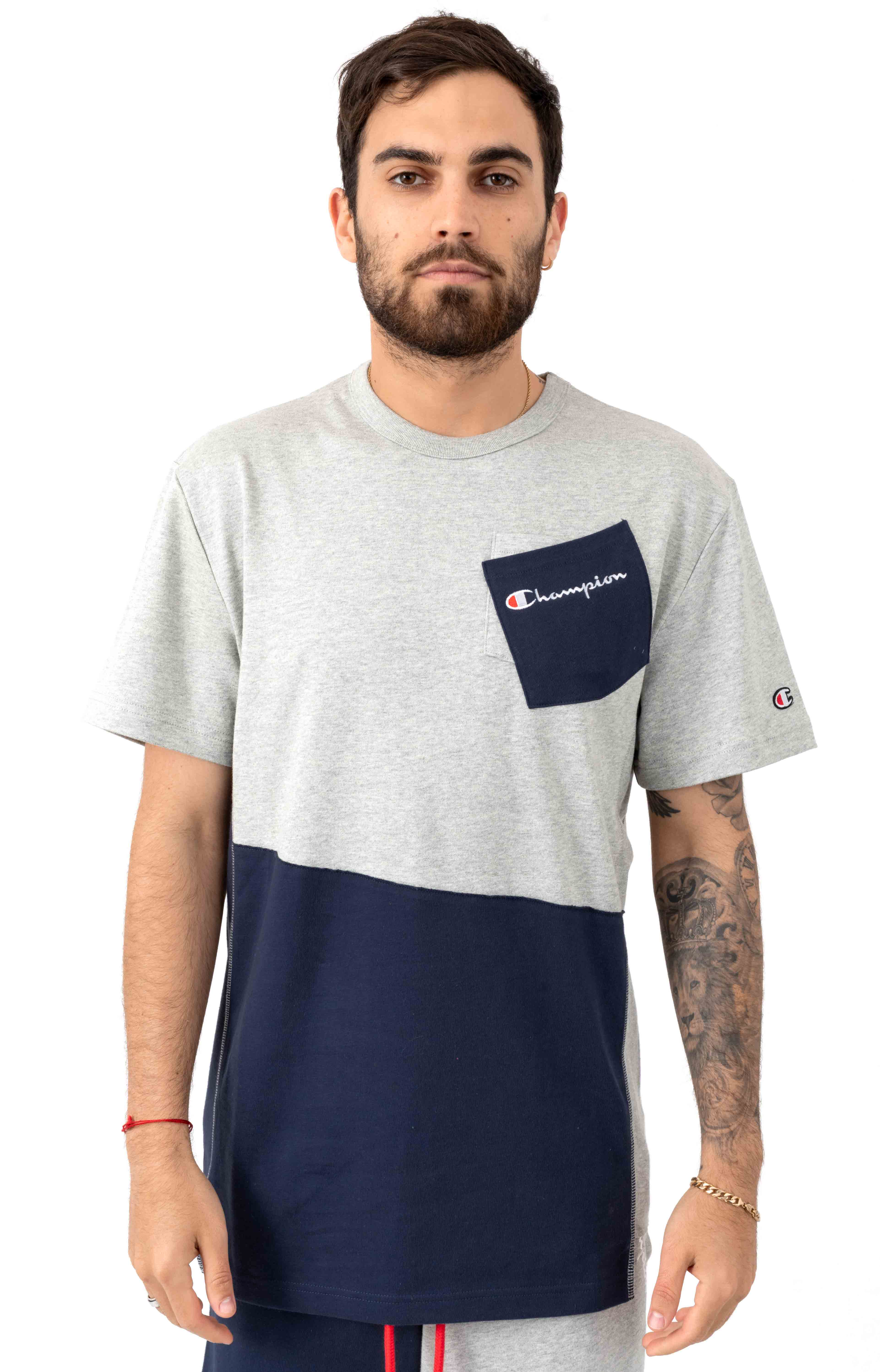 Heritage Shift T-Shirt - Oxford Grey/Imperial Indigo