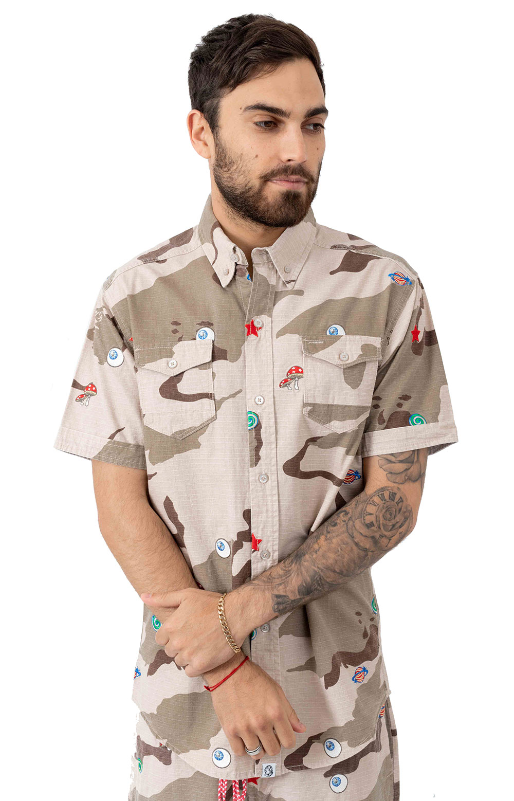 BB All Seeing Button-Up Shirt - Smoke Grey