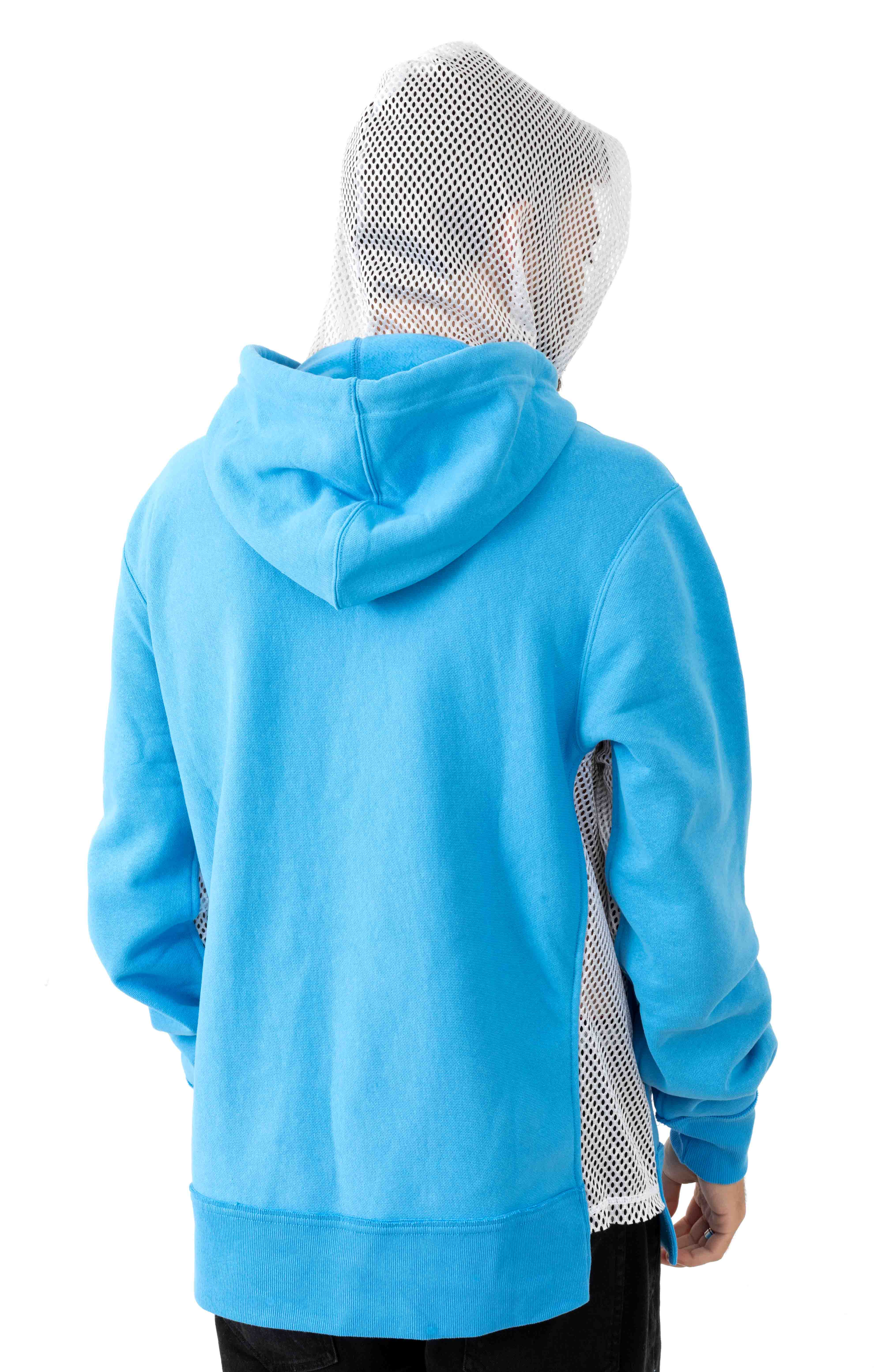 Reverse Weave Shift Pullover Hoodie - Active Blue/White 3