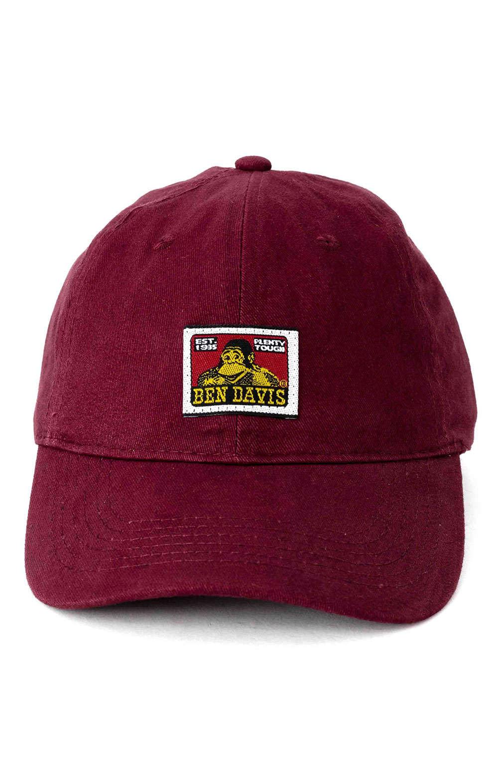 Unstructured Ball Cap - Burgundy 2