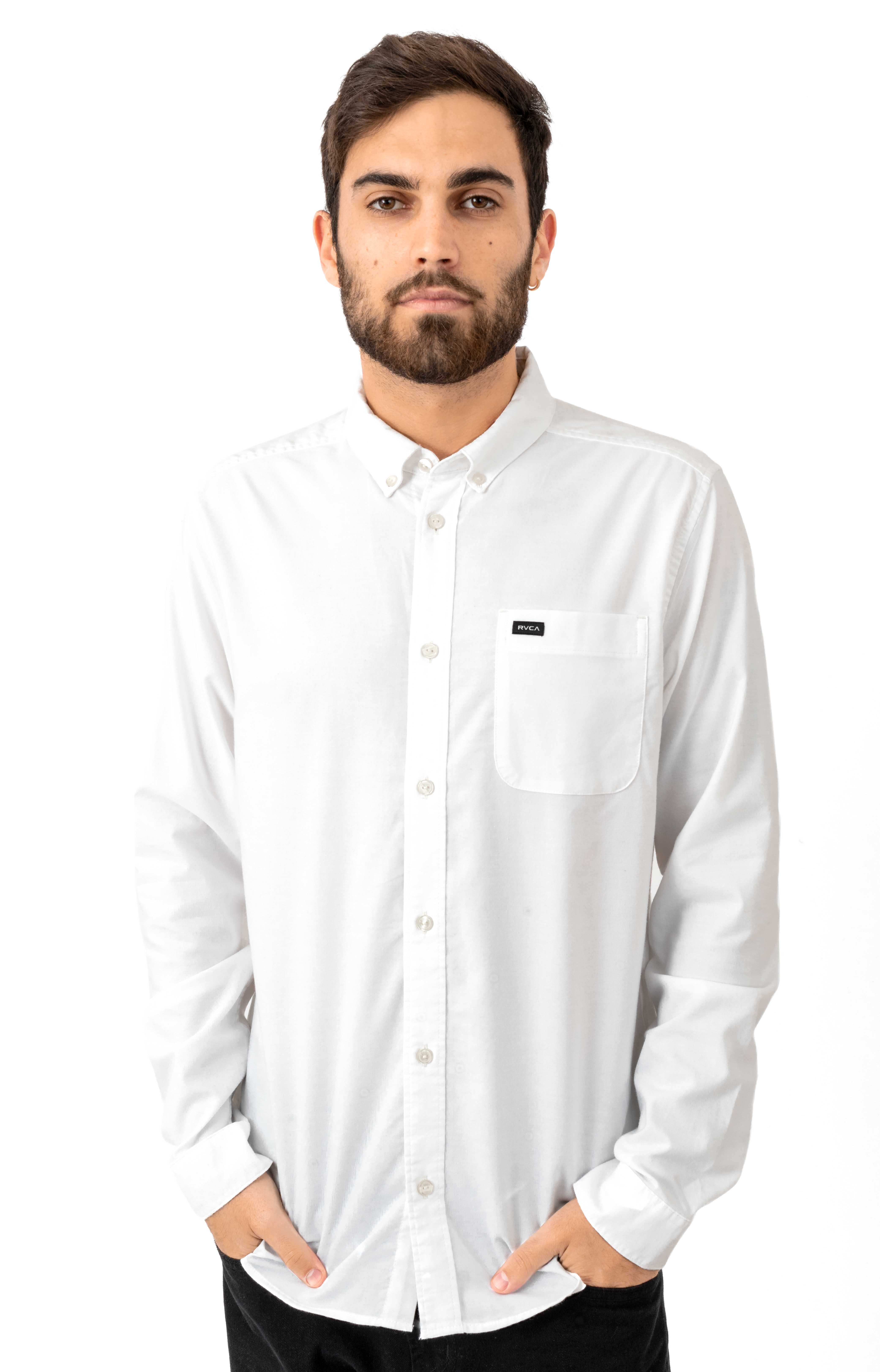 That'll Do Stretch Button-Up Shirt - White