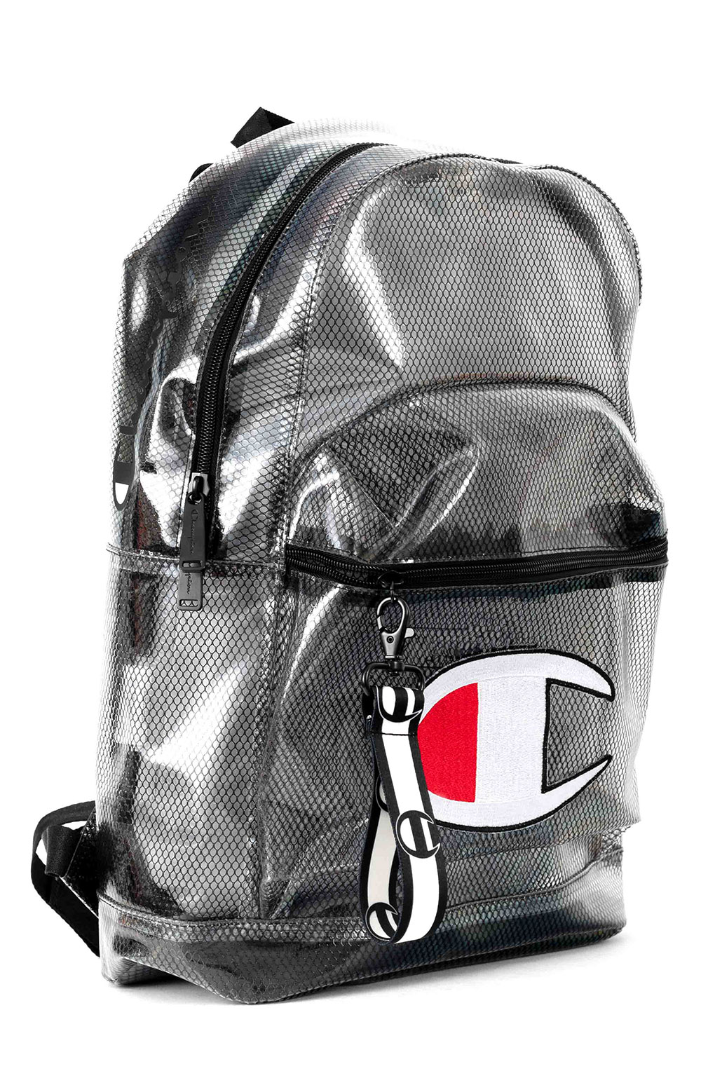 (CH1151) Supercize Clear Backpack - Black  2