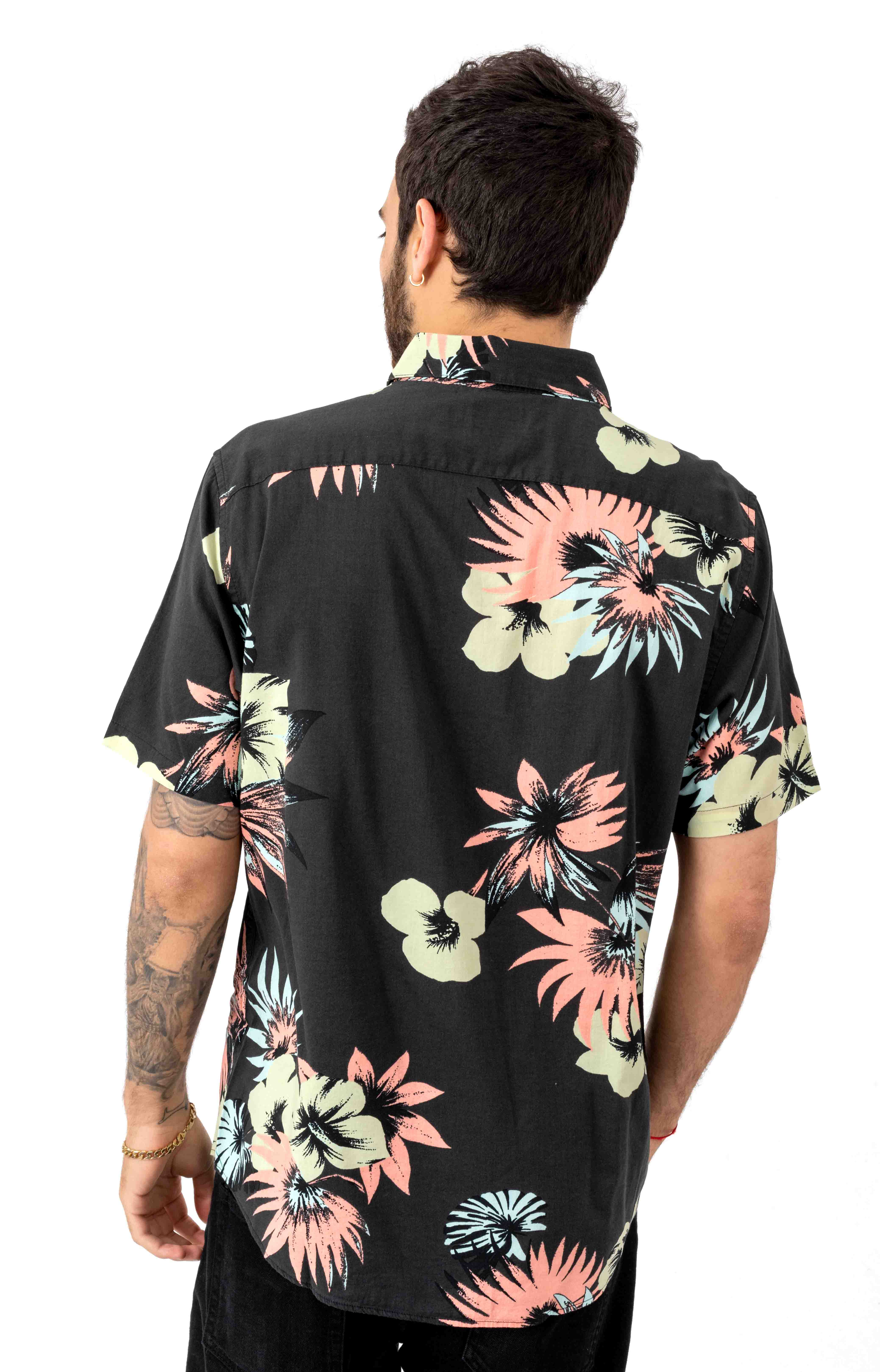 Romeo Floral Button-Up Shirt - Pirate Black  3