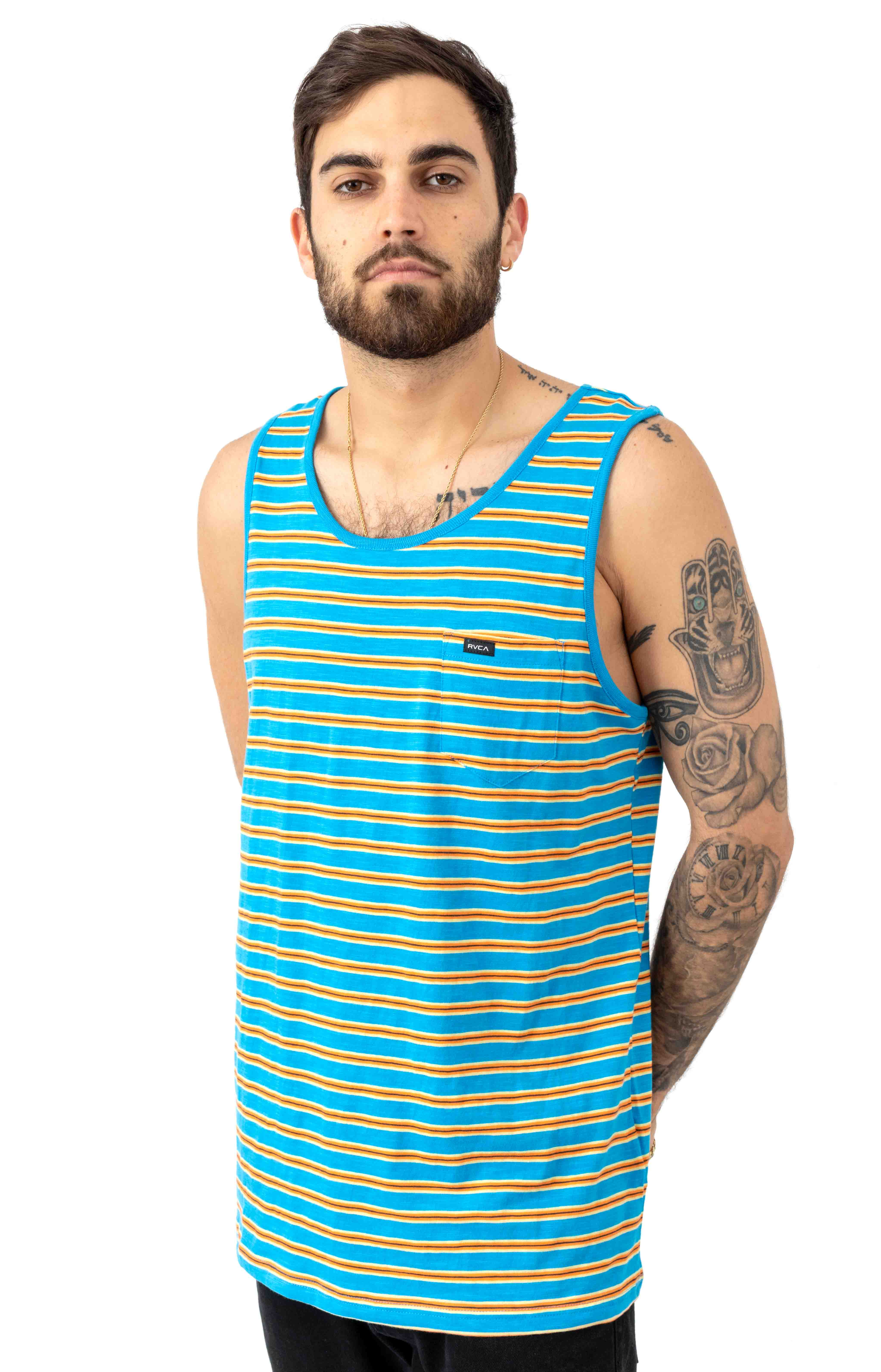 Vincent Stripe Tank Top - Blue Cruz 2