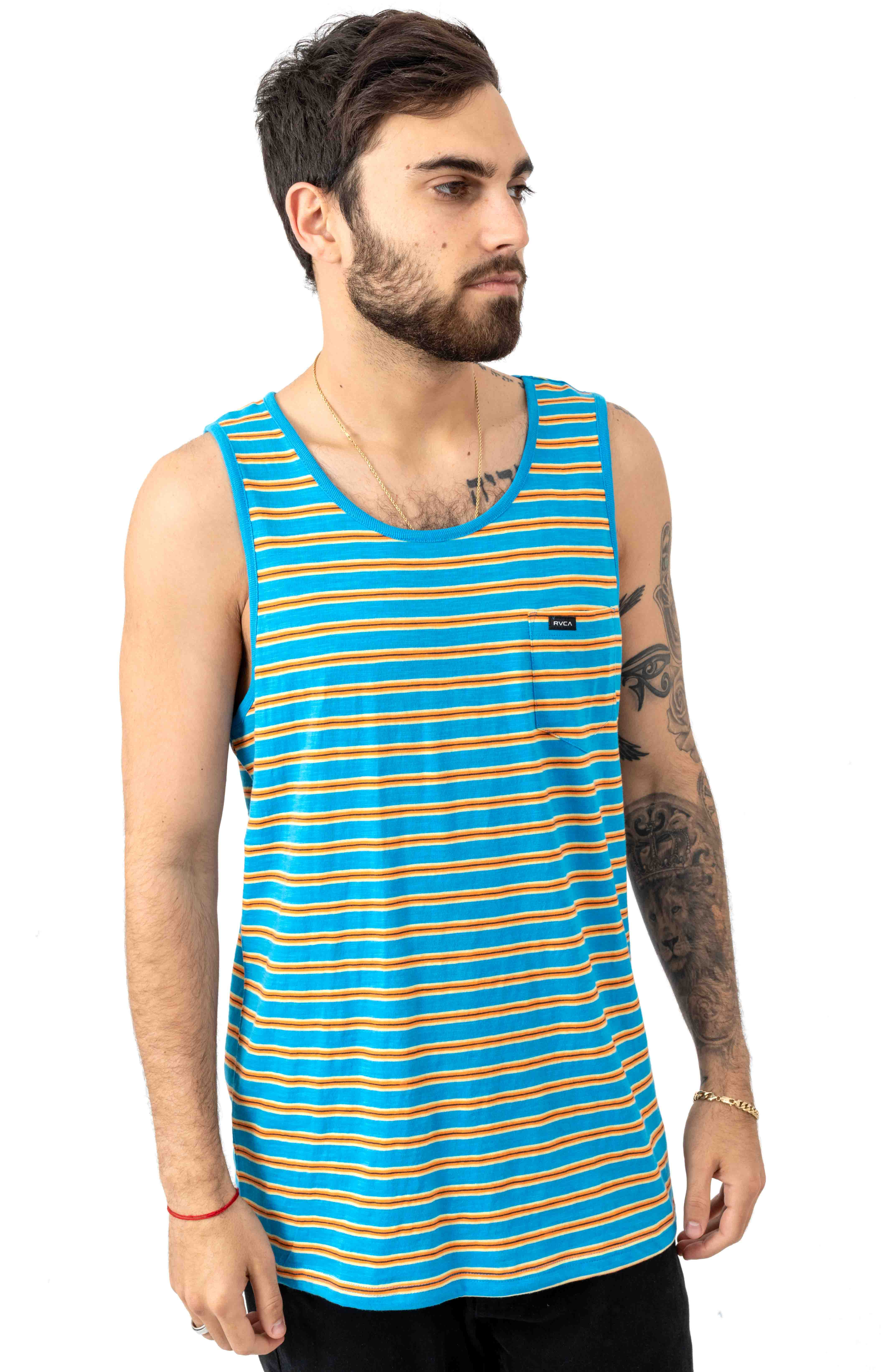 Vincent Stripe Tank Top - Blue Cruz