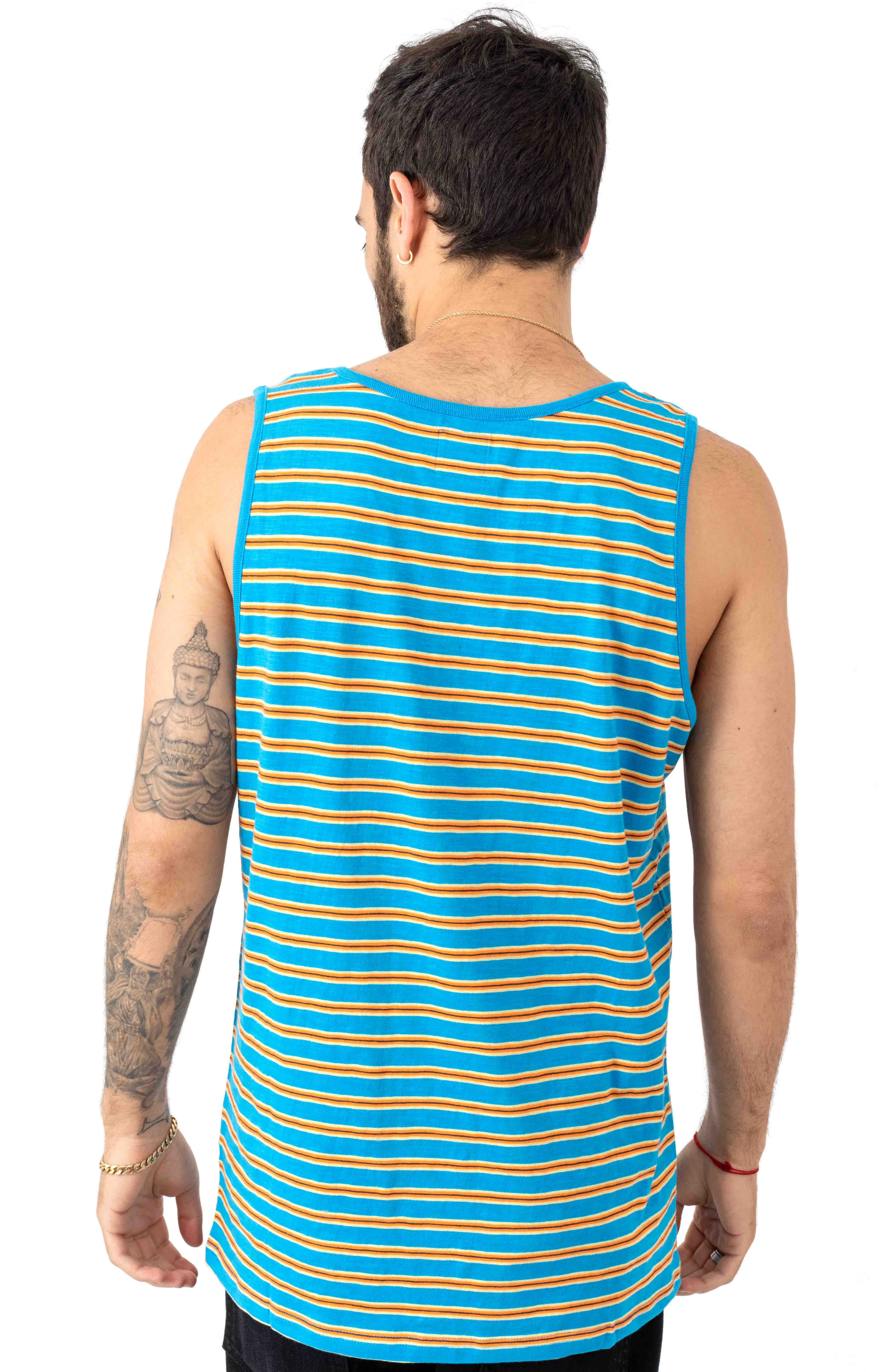 Vincent Stripe Tank Top - Blue Cruz 3