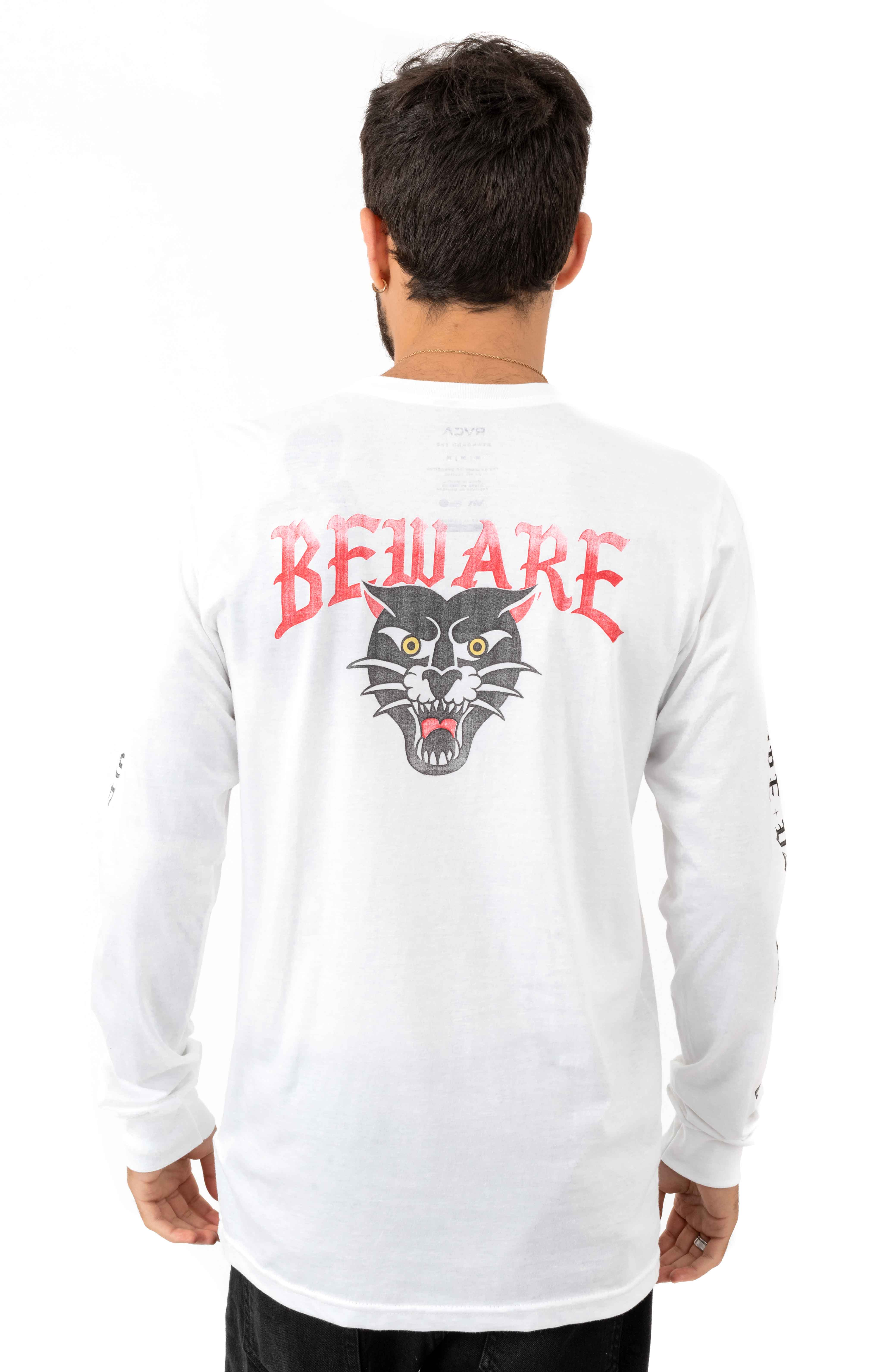 Beware L/S Shirt - White