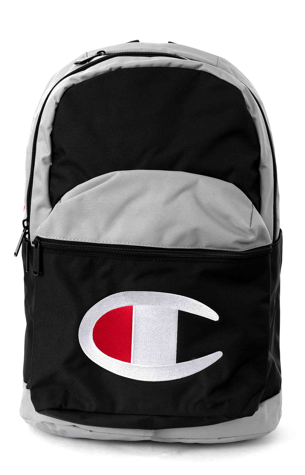 (CH1094) Champion Color Block Backpack - Black/White/Grey
