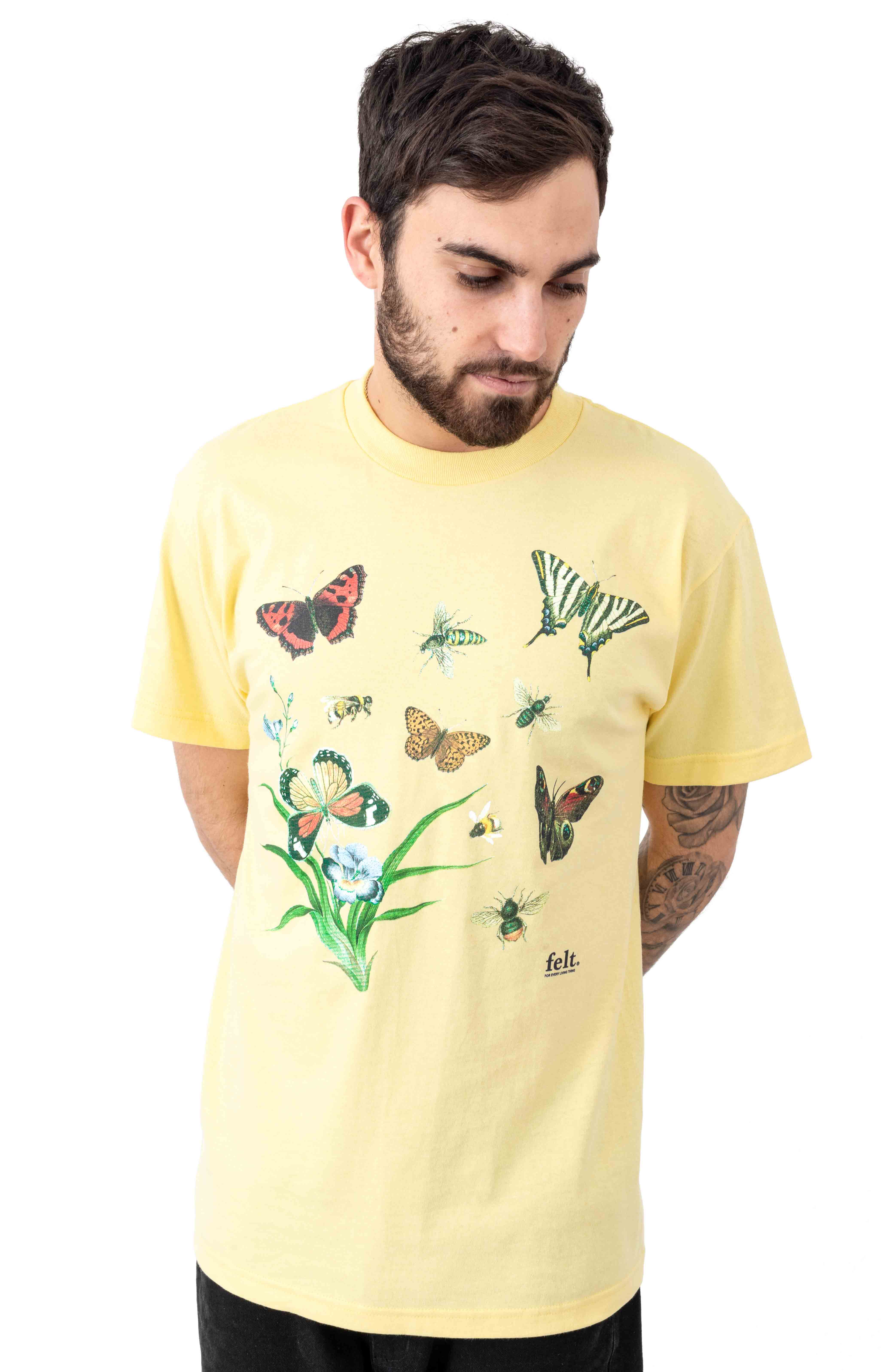 Butterflies & Bees T-Shirt - Yellow