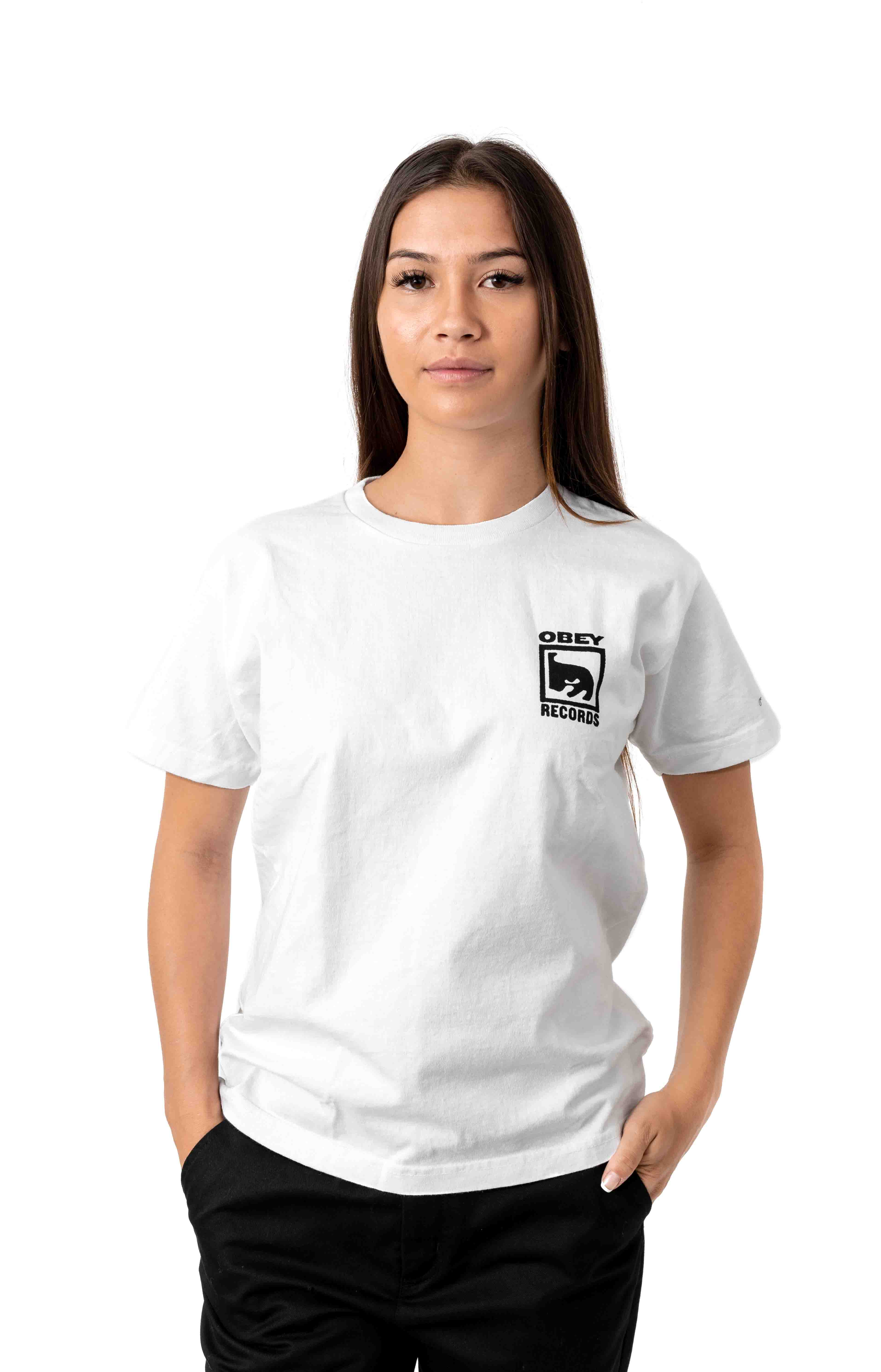Obey Records Icon T-Shirt - White