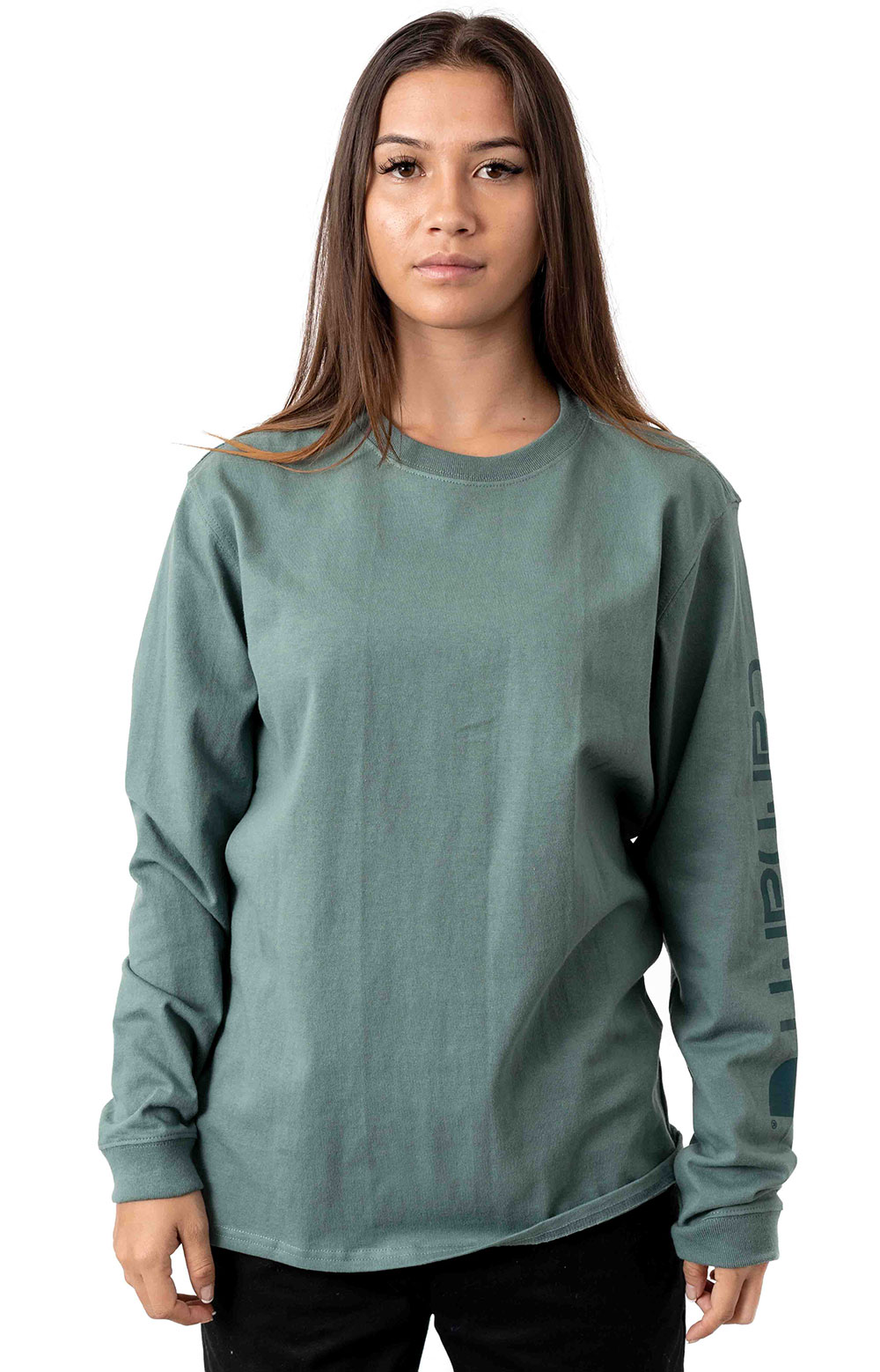 (103401) WK231 Workwear Sleeve Logo L/S Shirt - Balsam Green