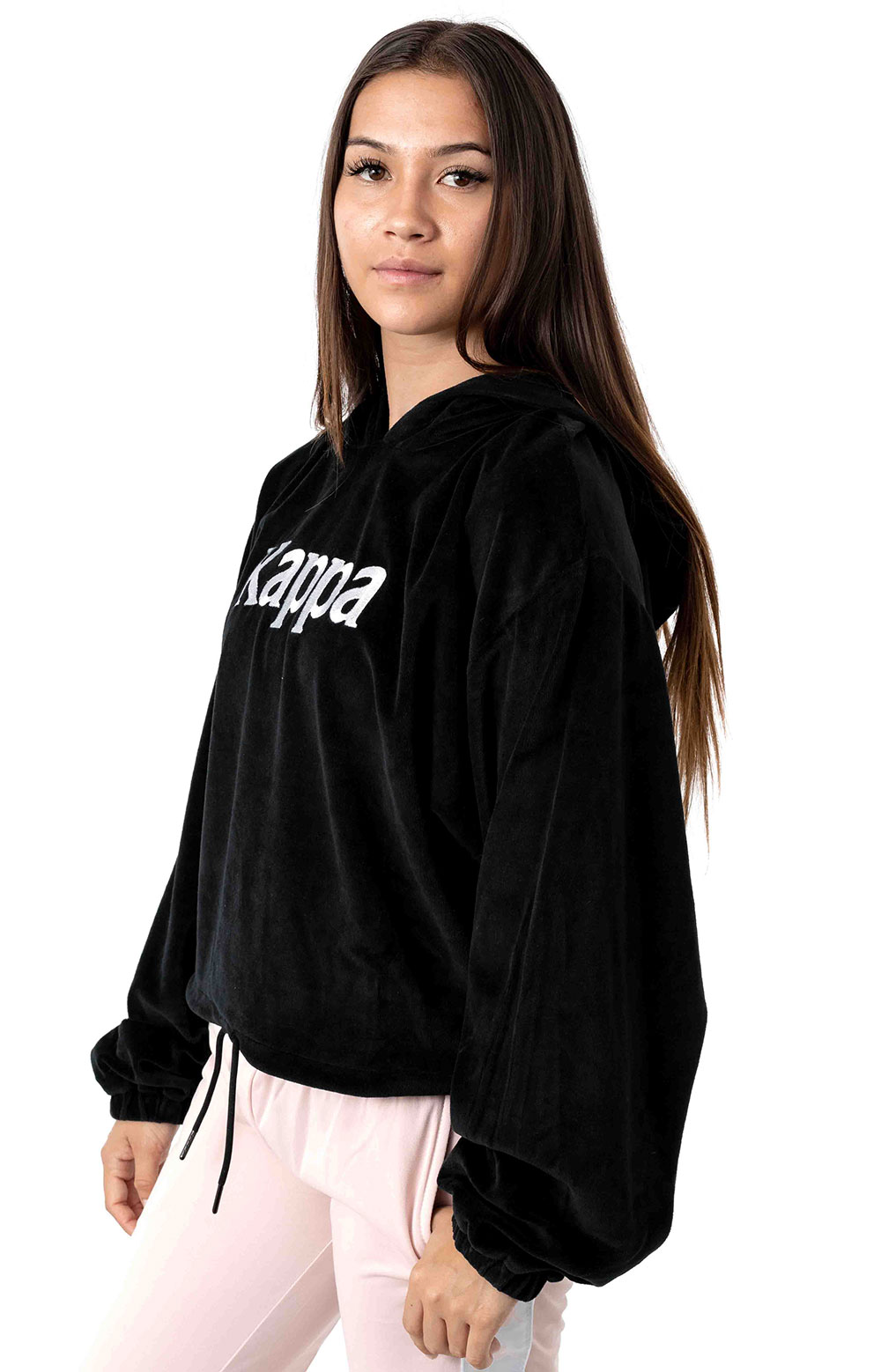 Authentic JPN Belua Velour Pullover Hoodie - Black/White 2