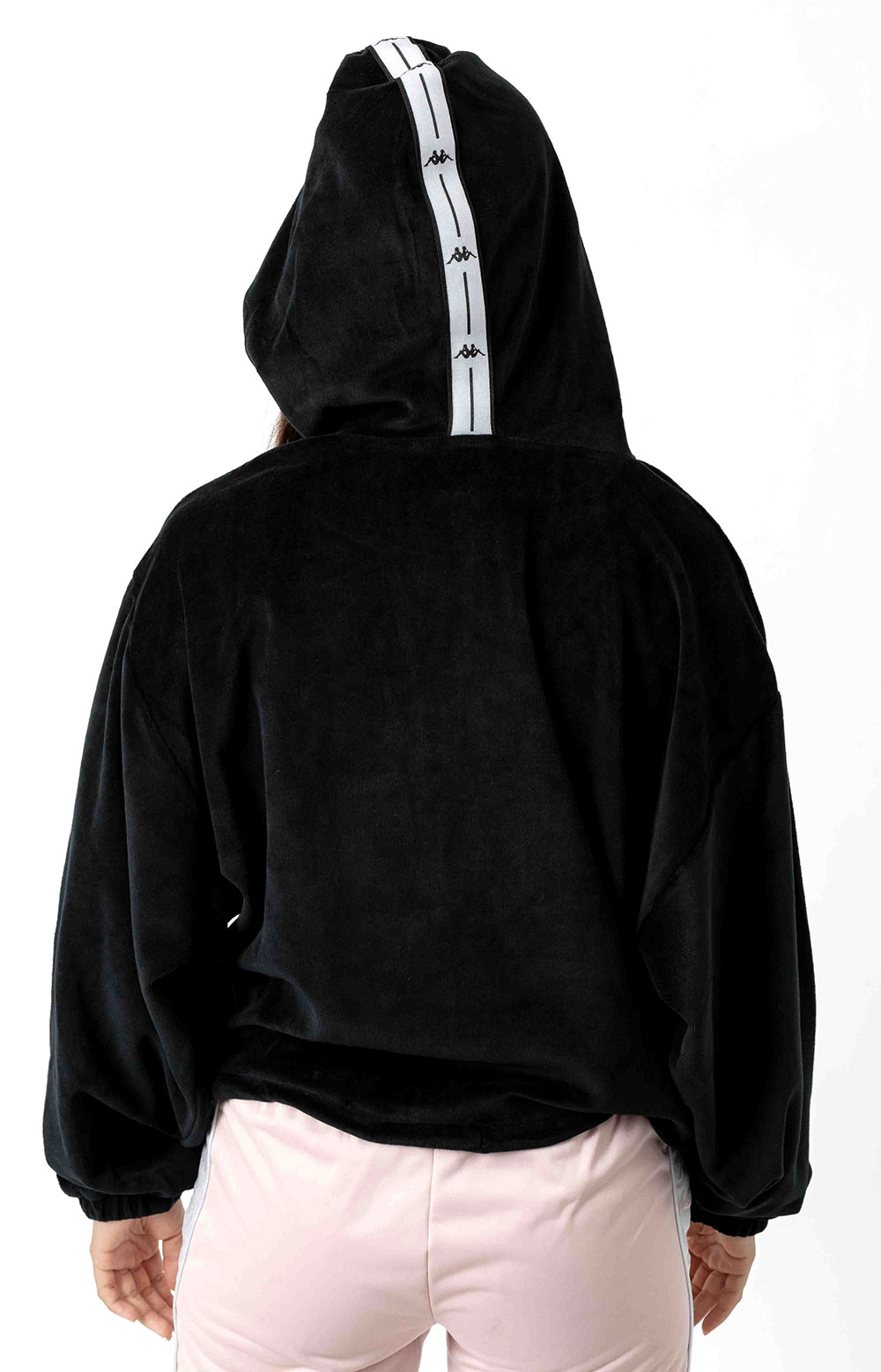 Authentic JPN Belua Velour Pullover Hoodie - Black/White 3