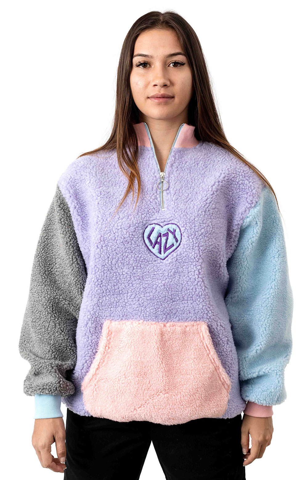 Pastel Panel Colour Block Fleece