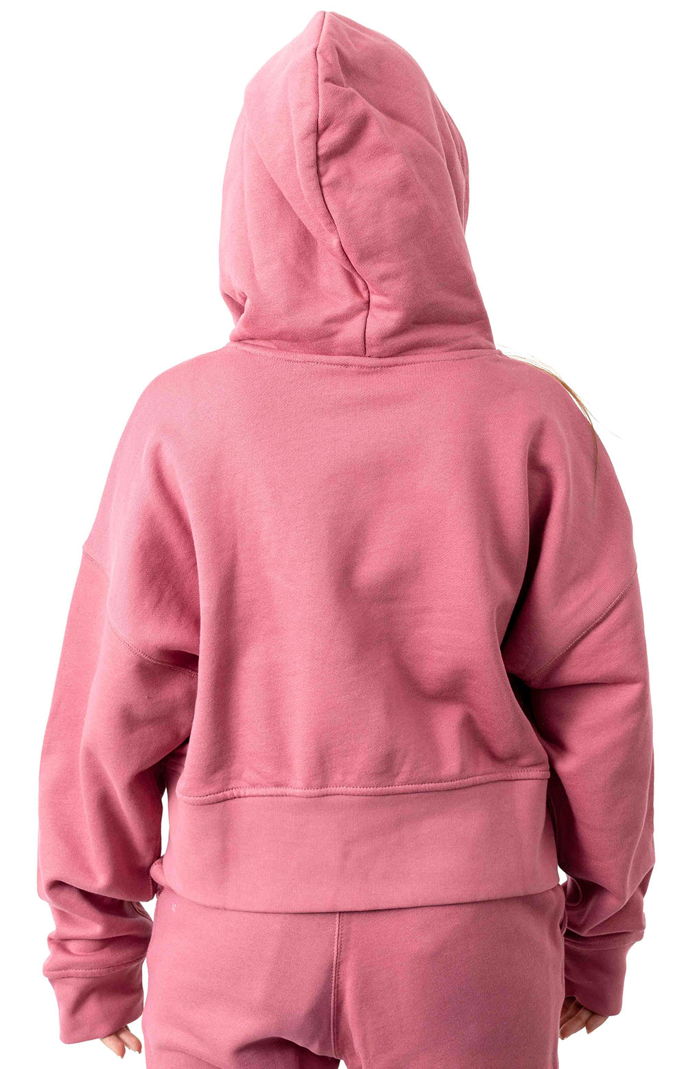 (EJ8539) Vocal Cropped Pullover Hoodie - Trace Maroon  3