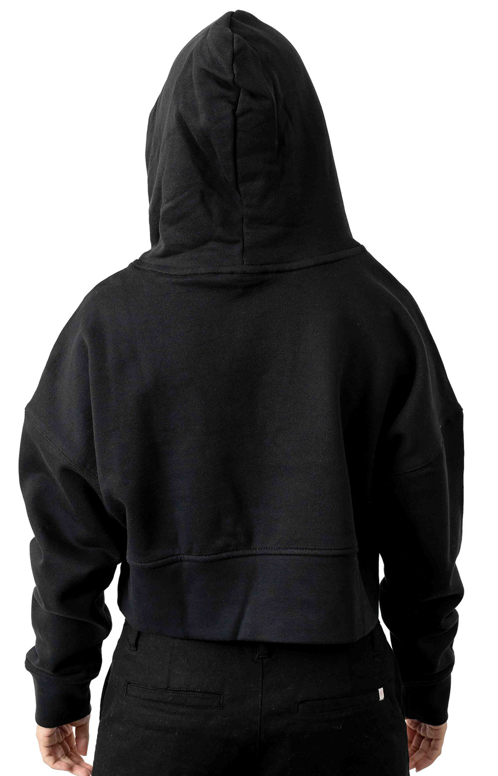 (EJ8537) Vocal Cropped Pullover Hoodie - Black 3