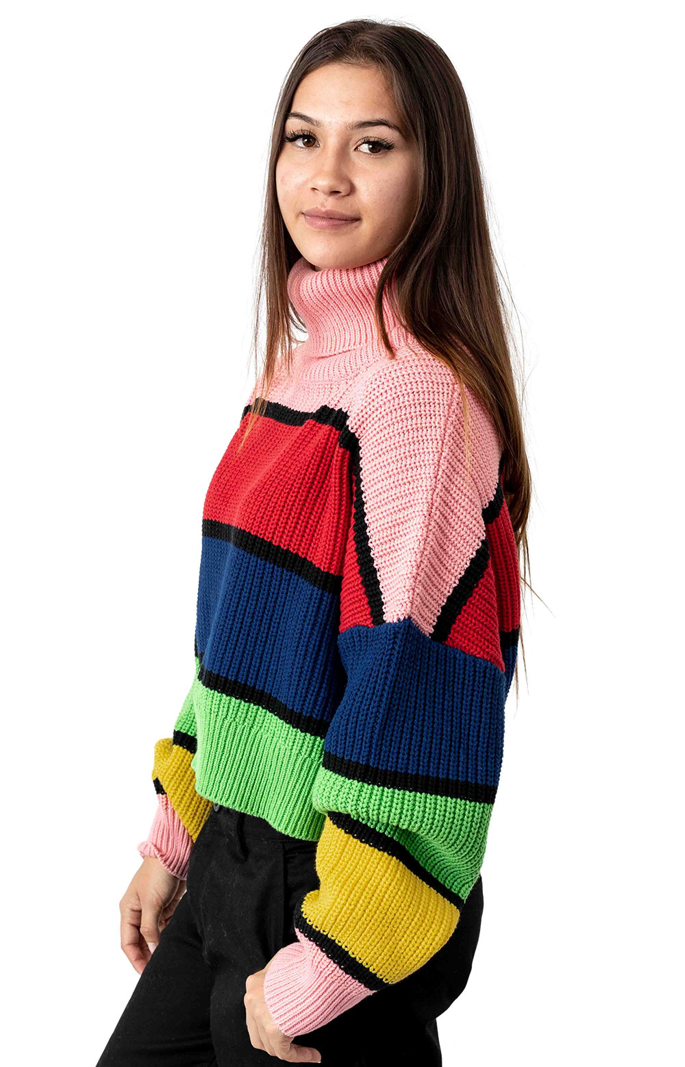 Bright Stripe Knitted Jumper  2