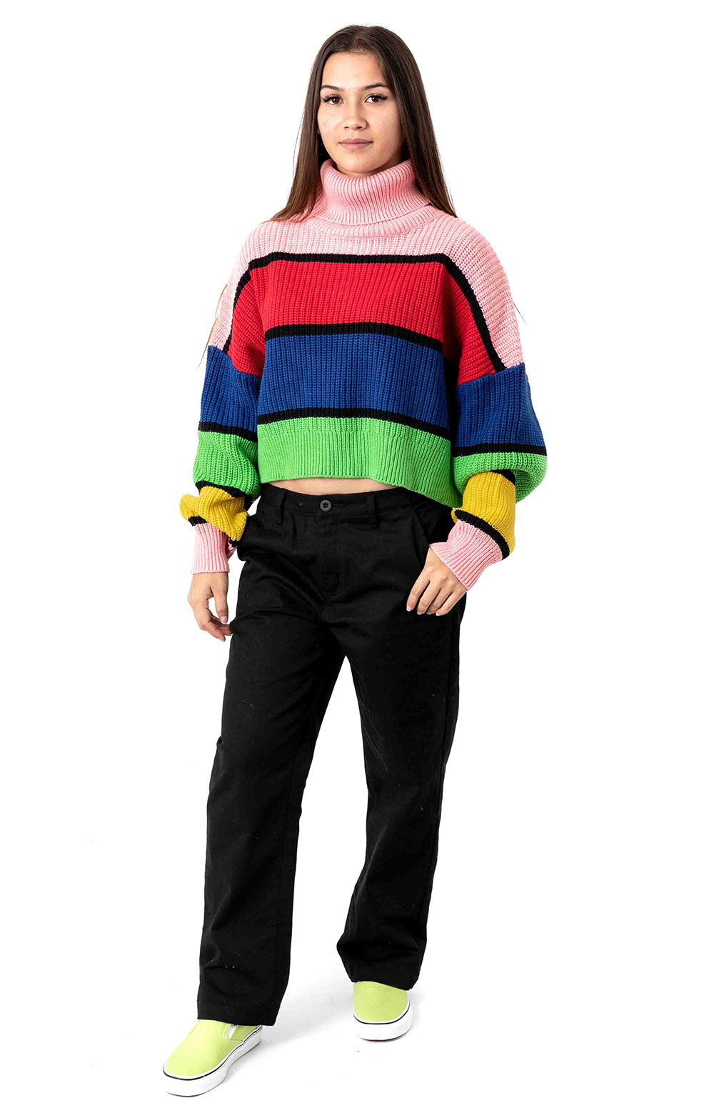 Bright Stripe Knitted Jumper  4