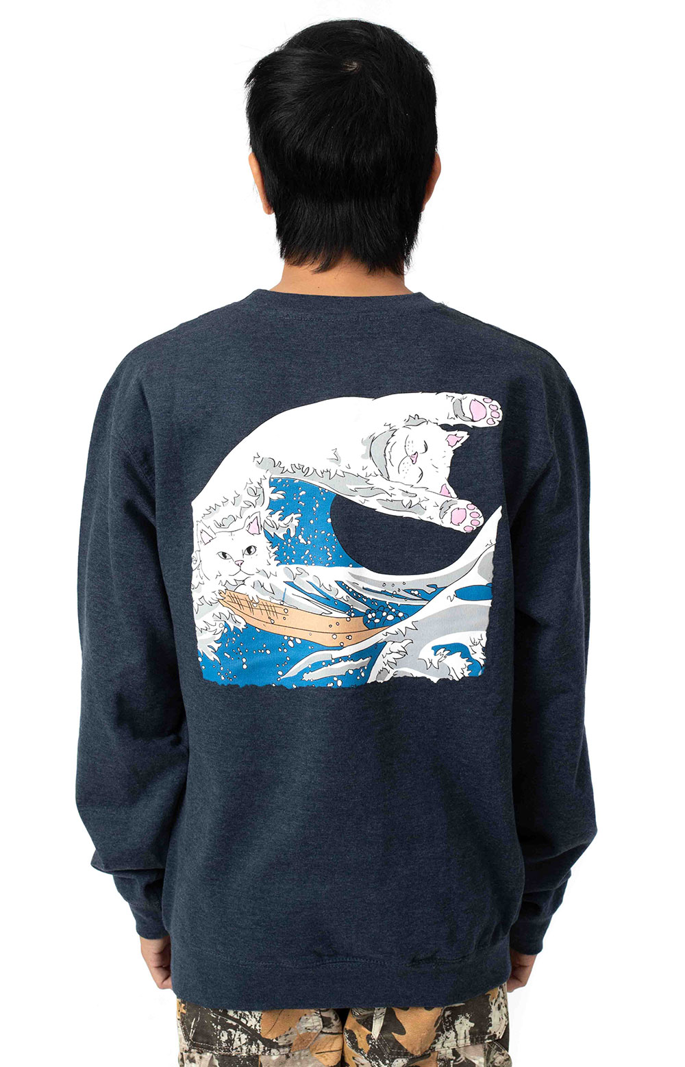 Great Wave Crewneck - Navy