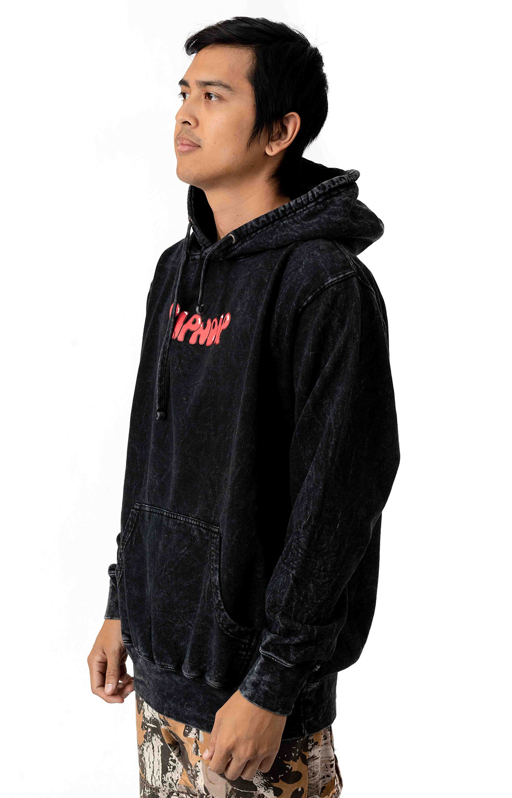 Cherry Blossom Pullover Hoodie - Grey Mineral Wash 2