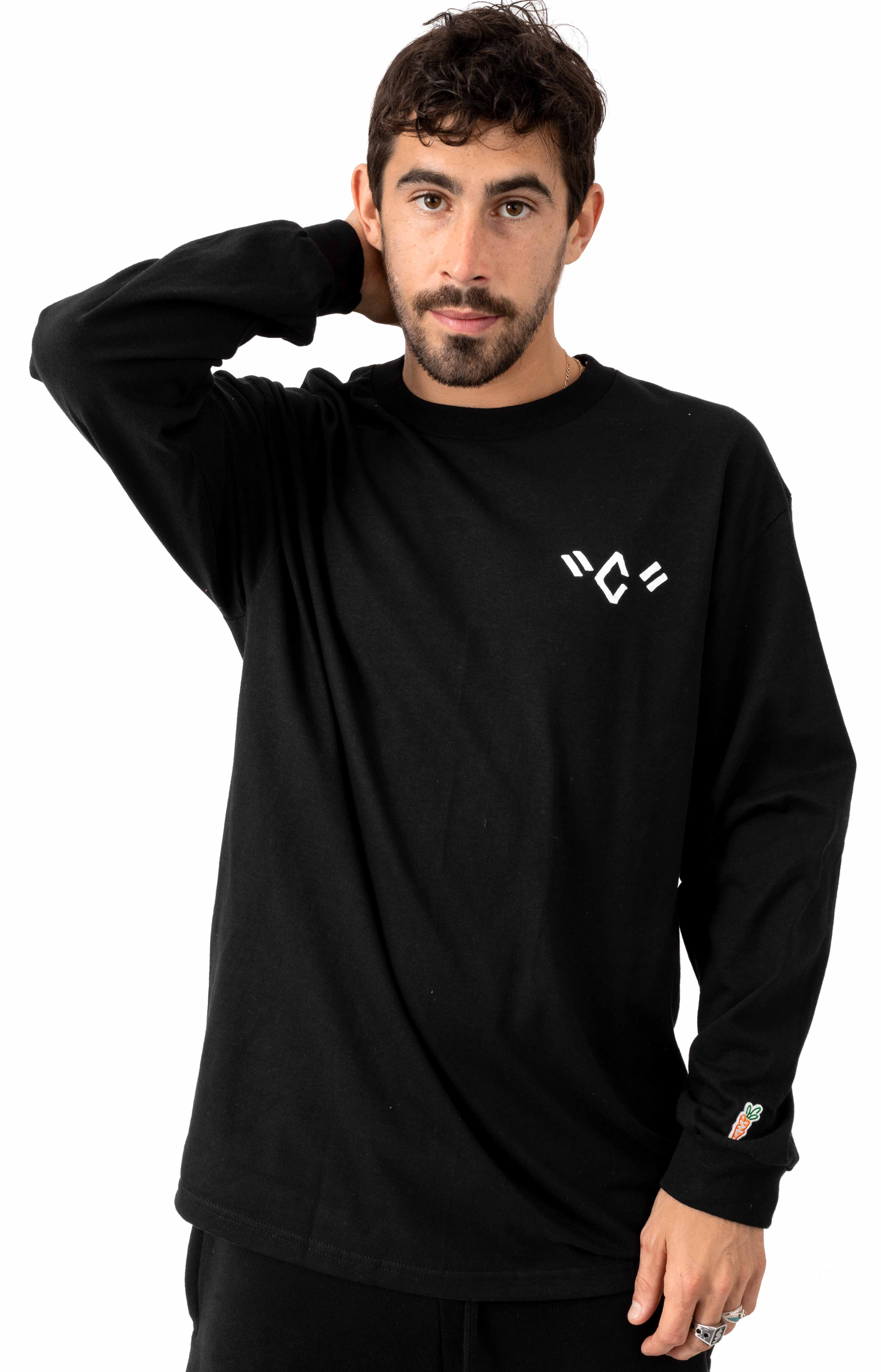 Joao C Pocket L/S Shirt - Black