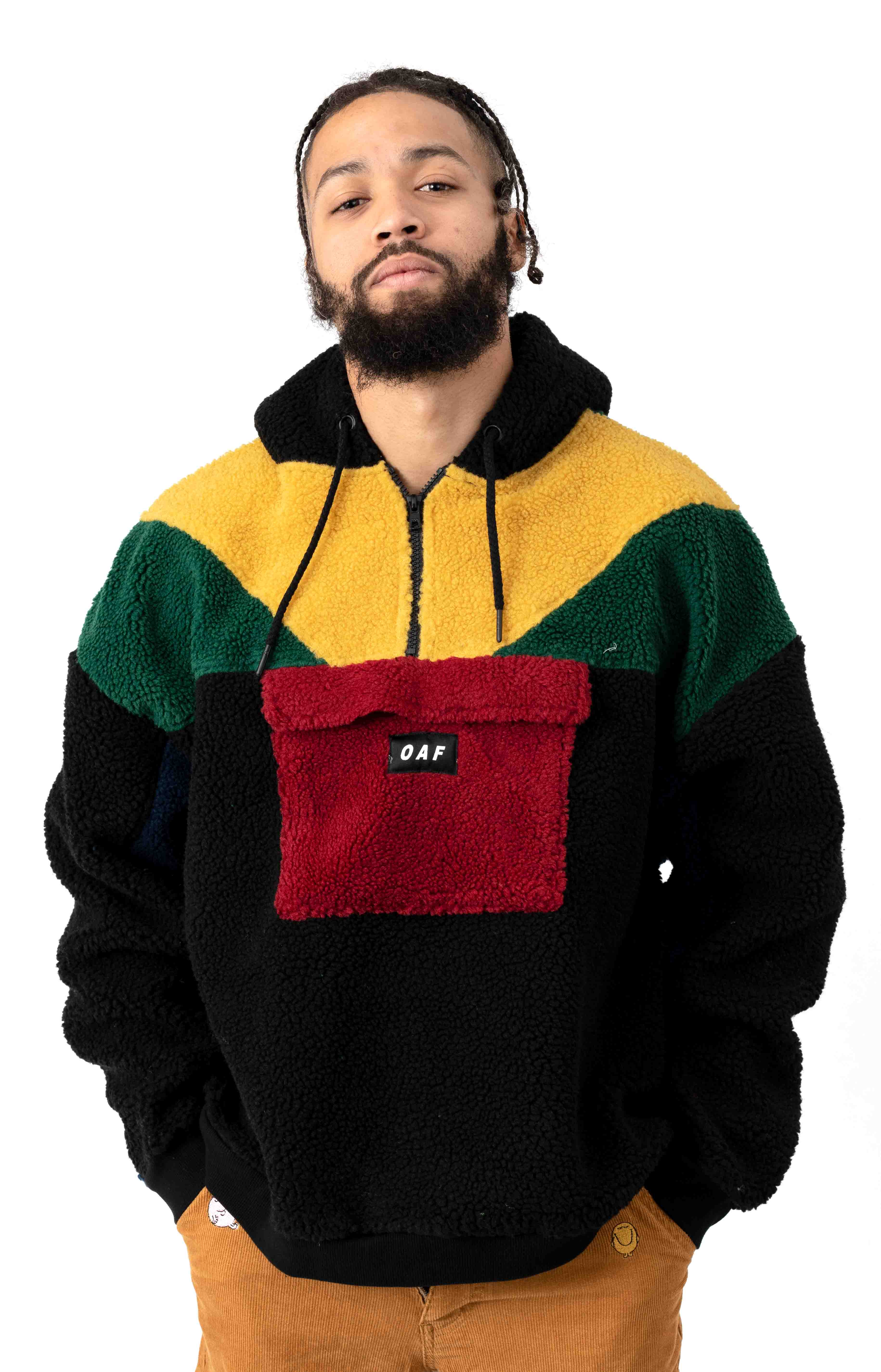 Polar Panel Pullover Hoodie